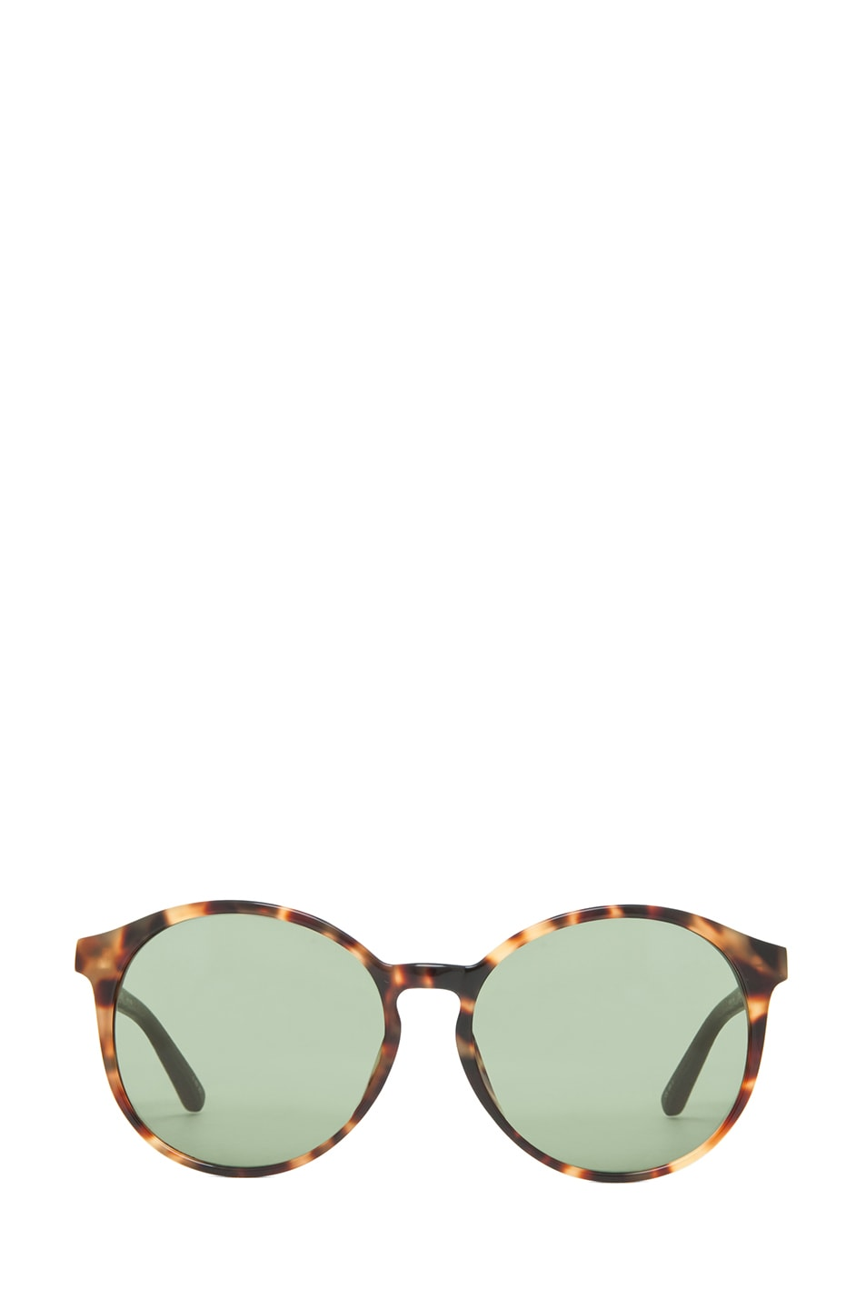 Image 1 of The Row Classic Keyhole Round Sunglasses in Tortoise