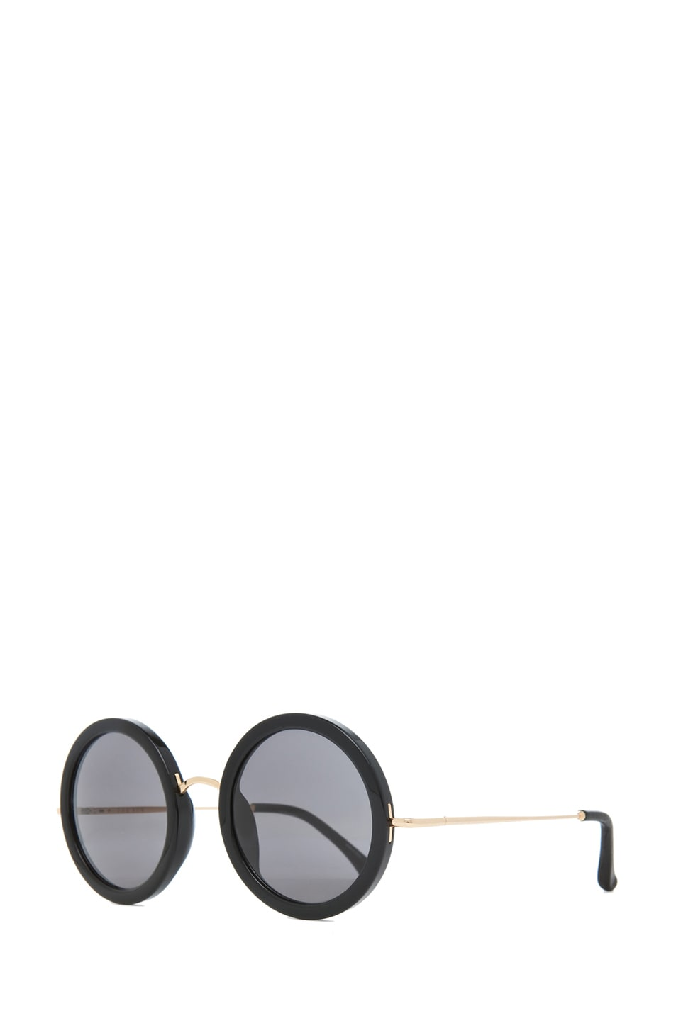 Image 2 of The Row Circle Sunglasses in Black