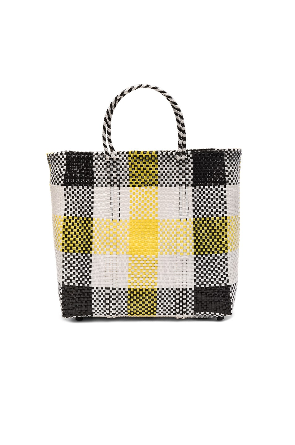 Image 1 of Truss Medium Tote in Black & Yellow Plaid