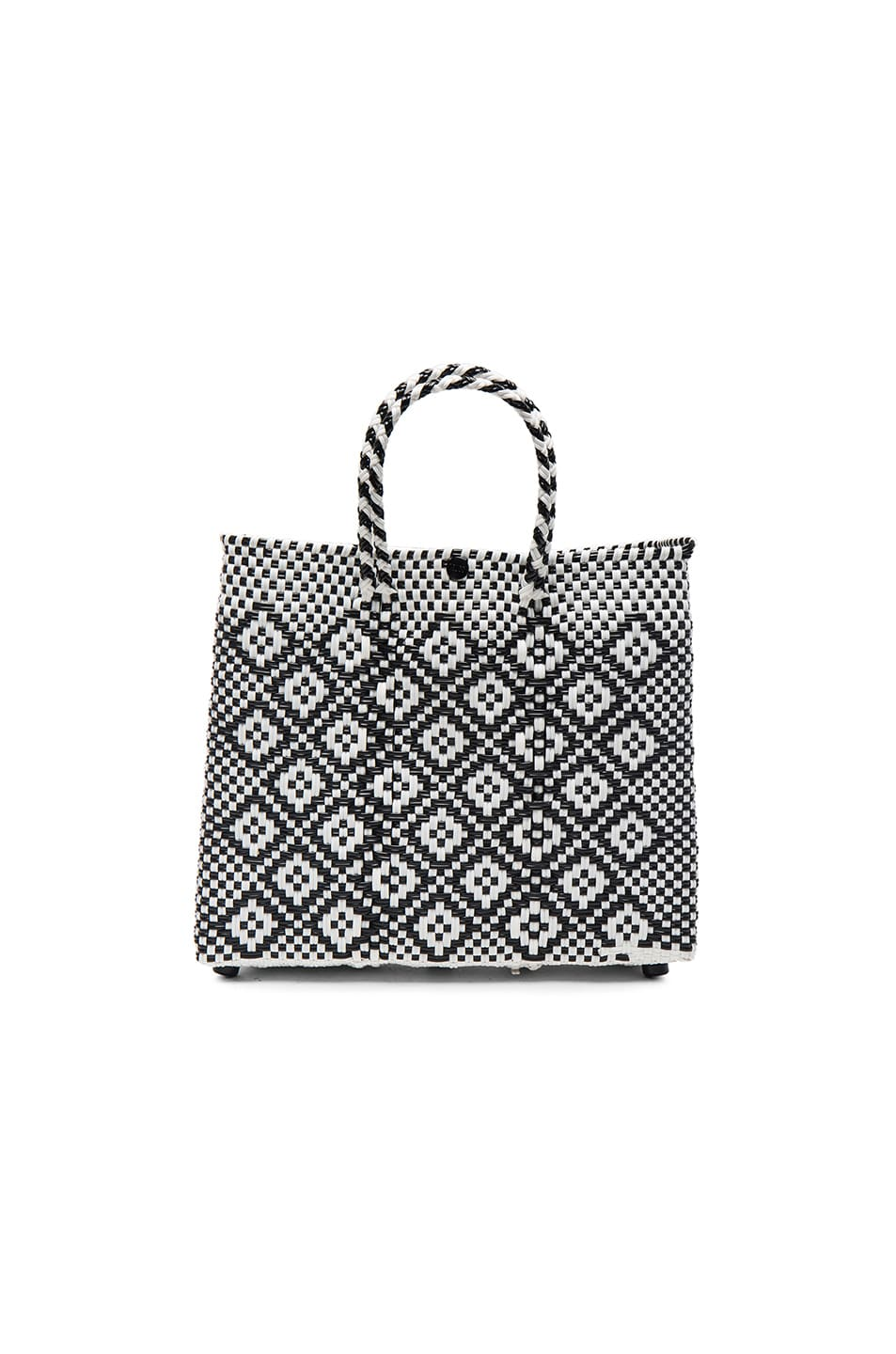 Image 1 of Truss Small Crossbody Tote in Black & White