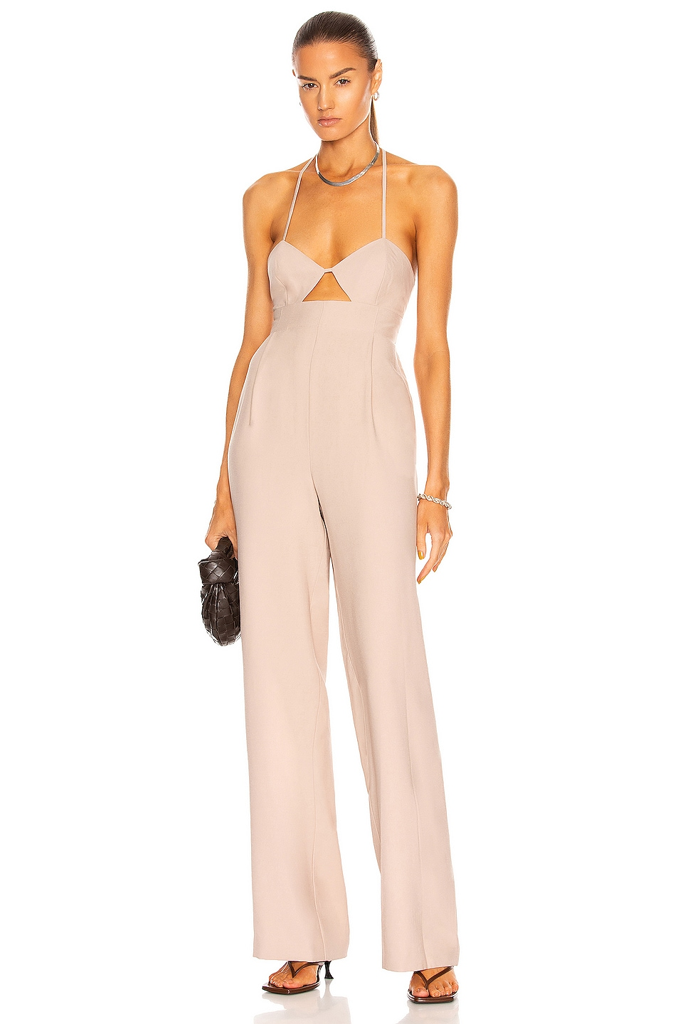 Image 1 of The Sei Cut Out Jumpsuit in Bone