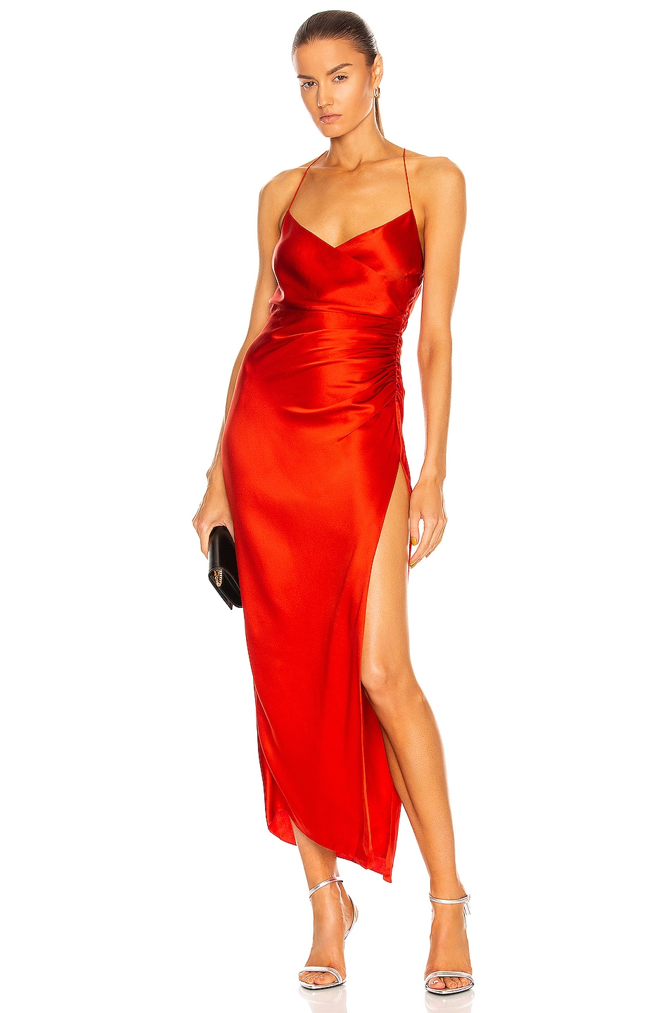 Image 1 of The Sei Strappy Gathered Dress in Chili