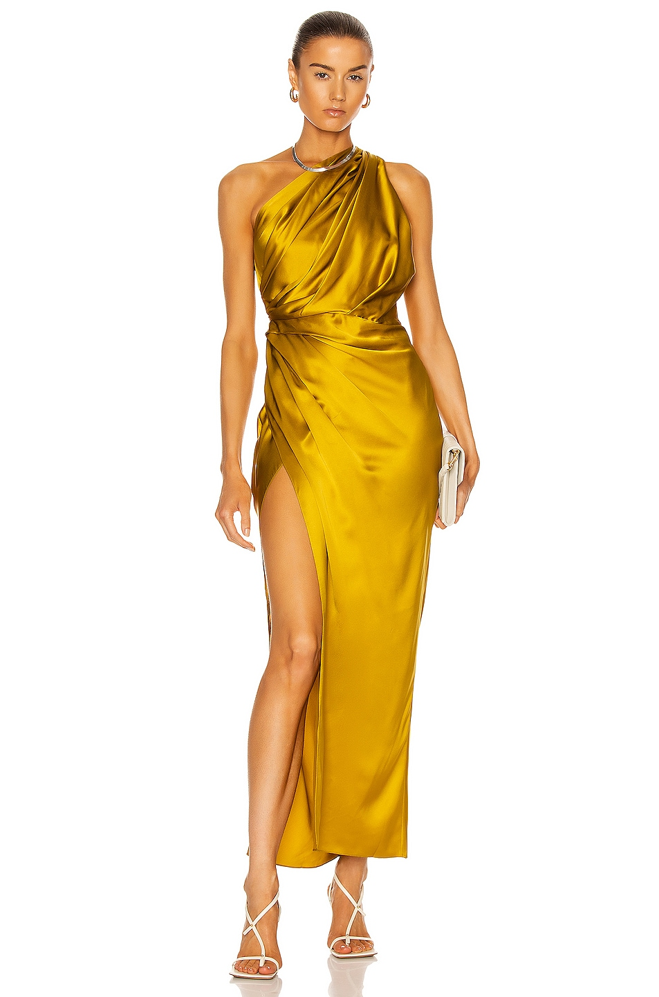 Image 1 of The Sei Asymmetric Draped Dress in Cider