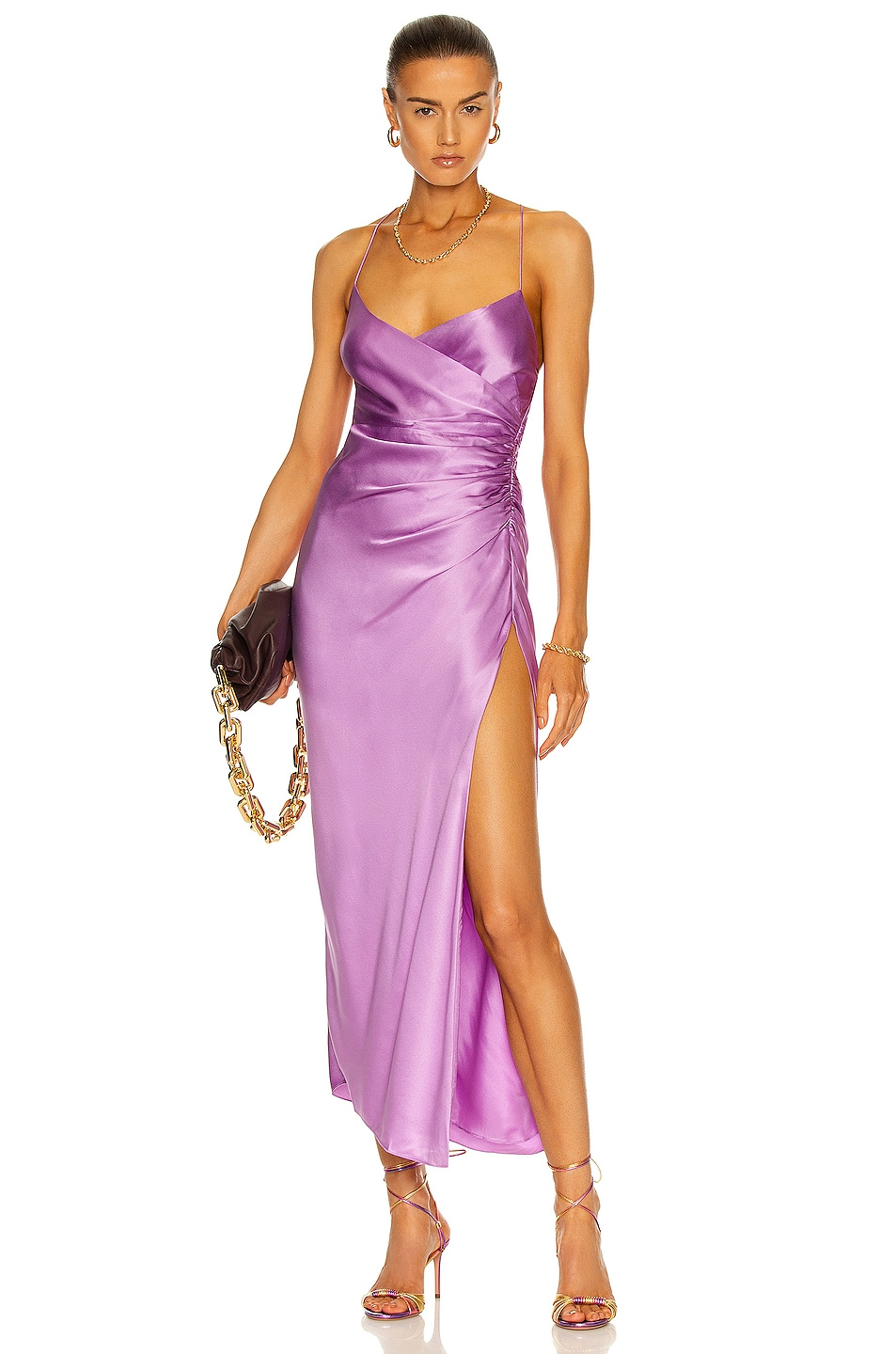 Image 1 of The Sei Strappy Gathered Dress in Lilac