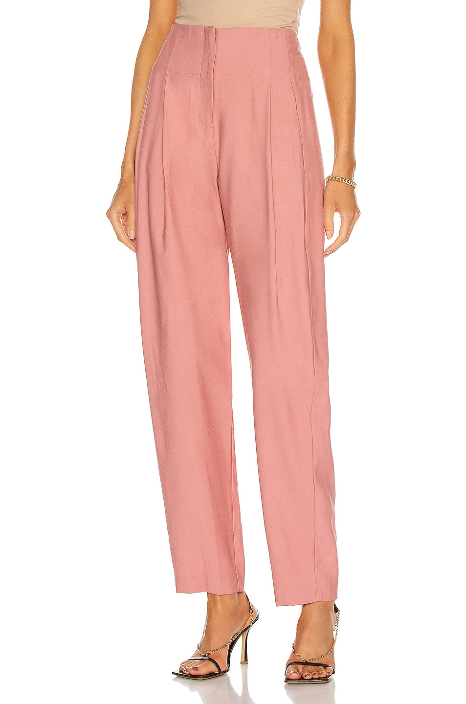 Image 1 of The Sei Pleated Trouser in Rose