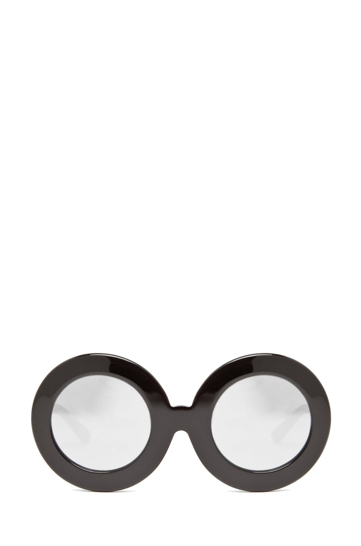 Image 1 of Tsumori Chisato Circle Glasses in Black