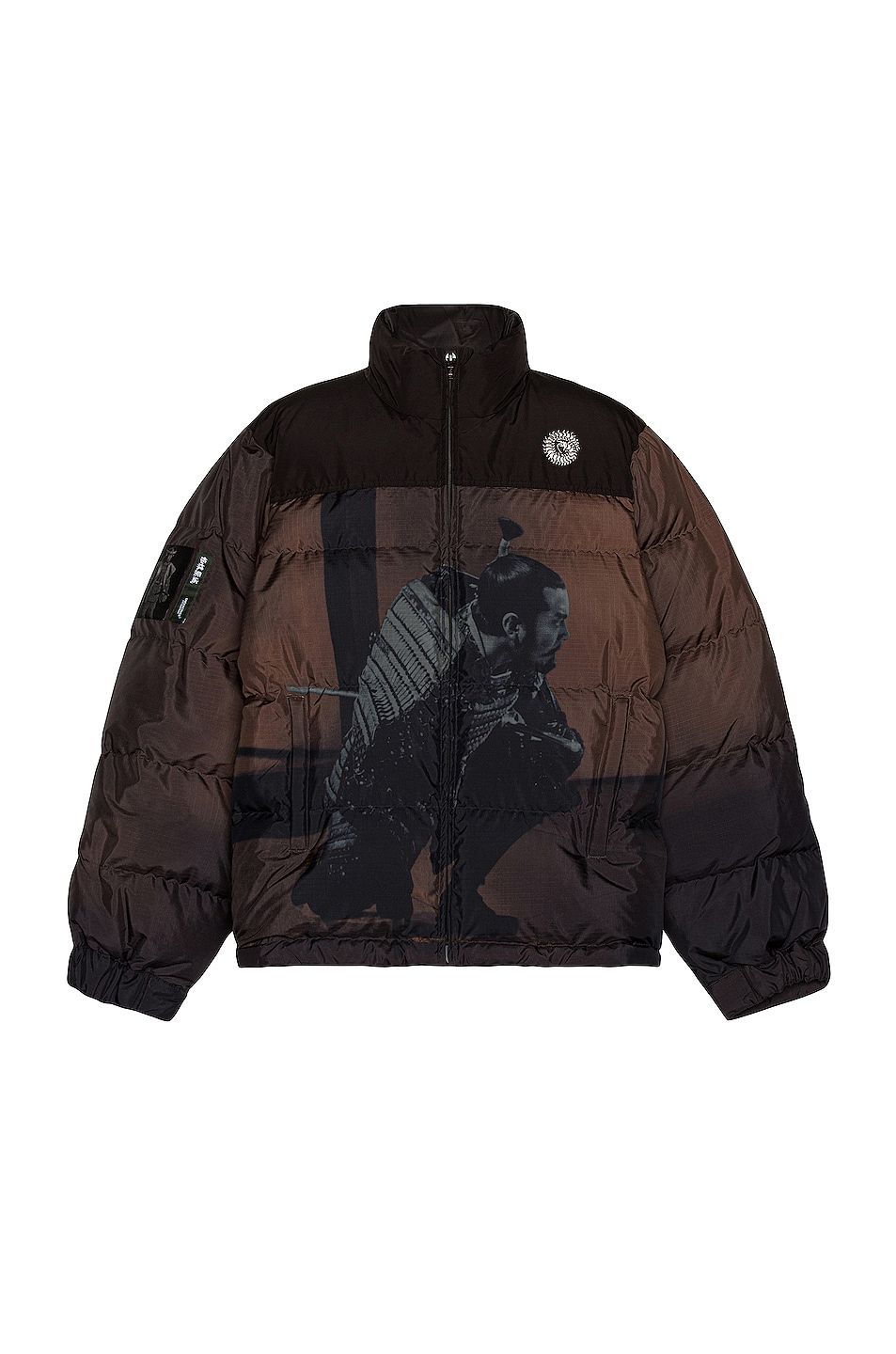 Image 1 of Undercover Puffer Jacket in Brown Base