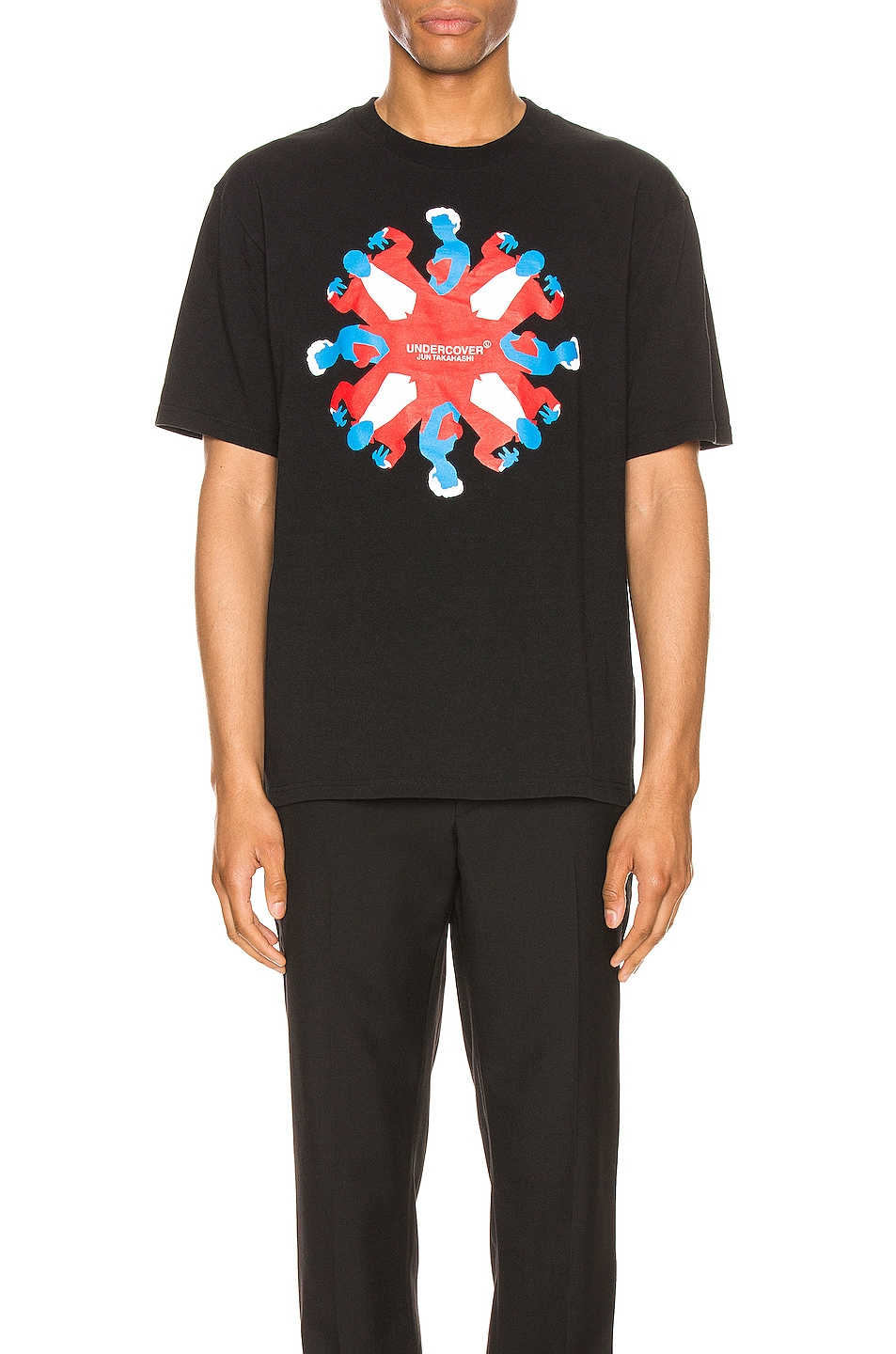 Image 1 of Undercover Graphic Tee in Black