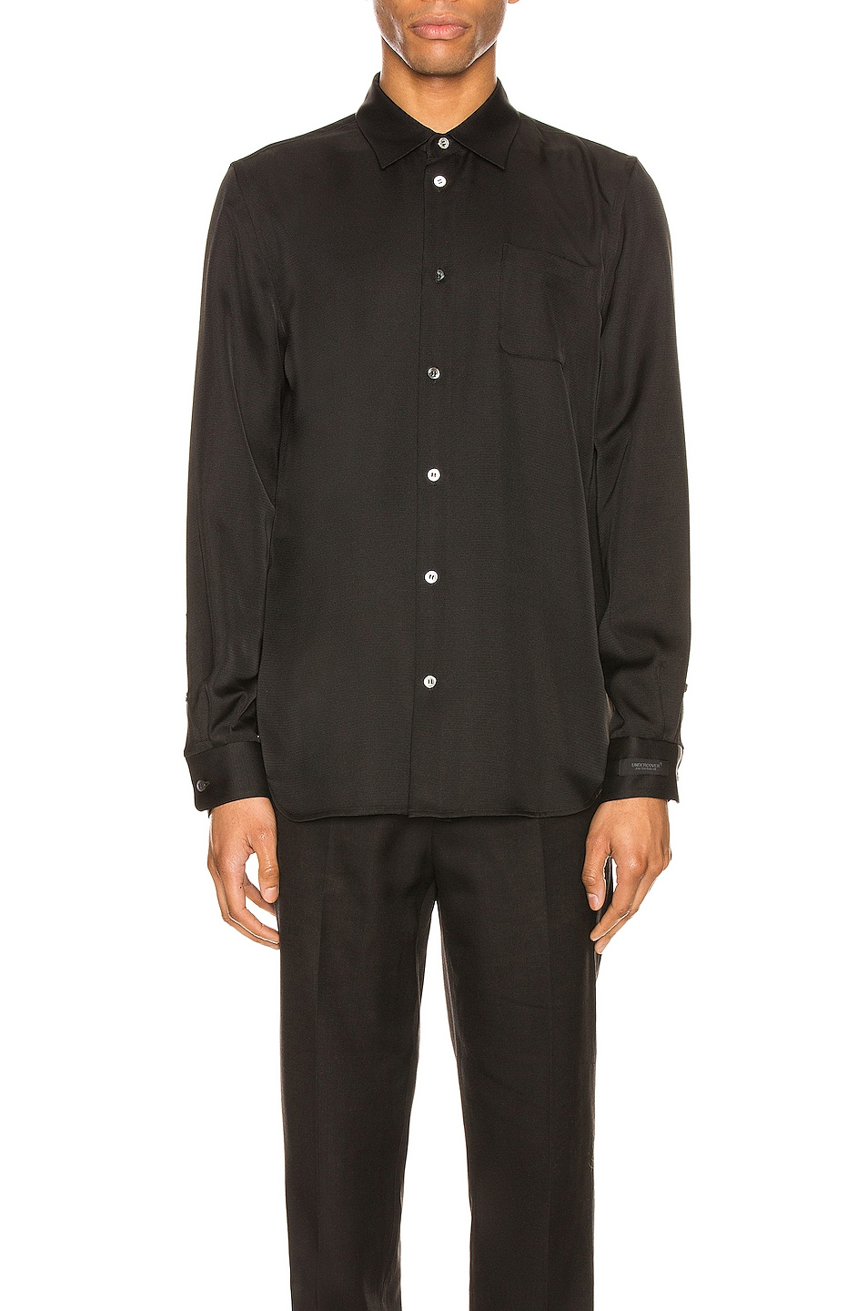Image 1 of Undercover Long Sleeve Shirt in Black