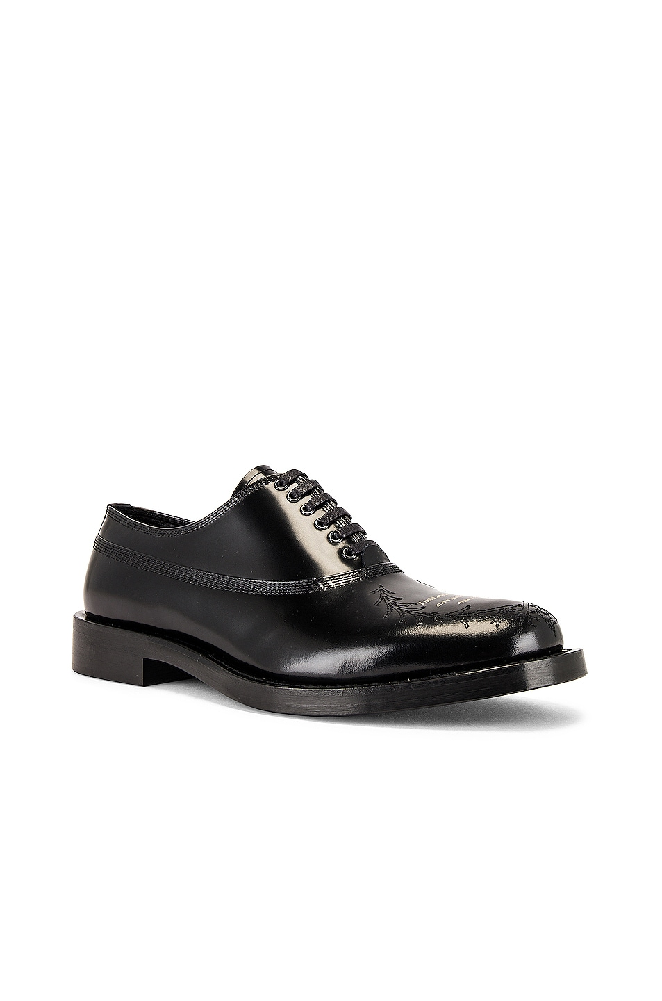Image 1 of Undercover Lace Up Buck Shoe in Black