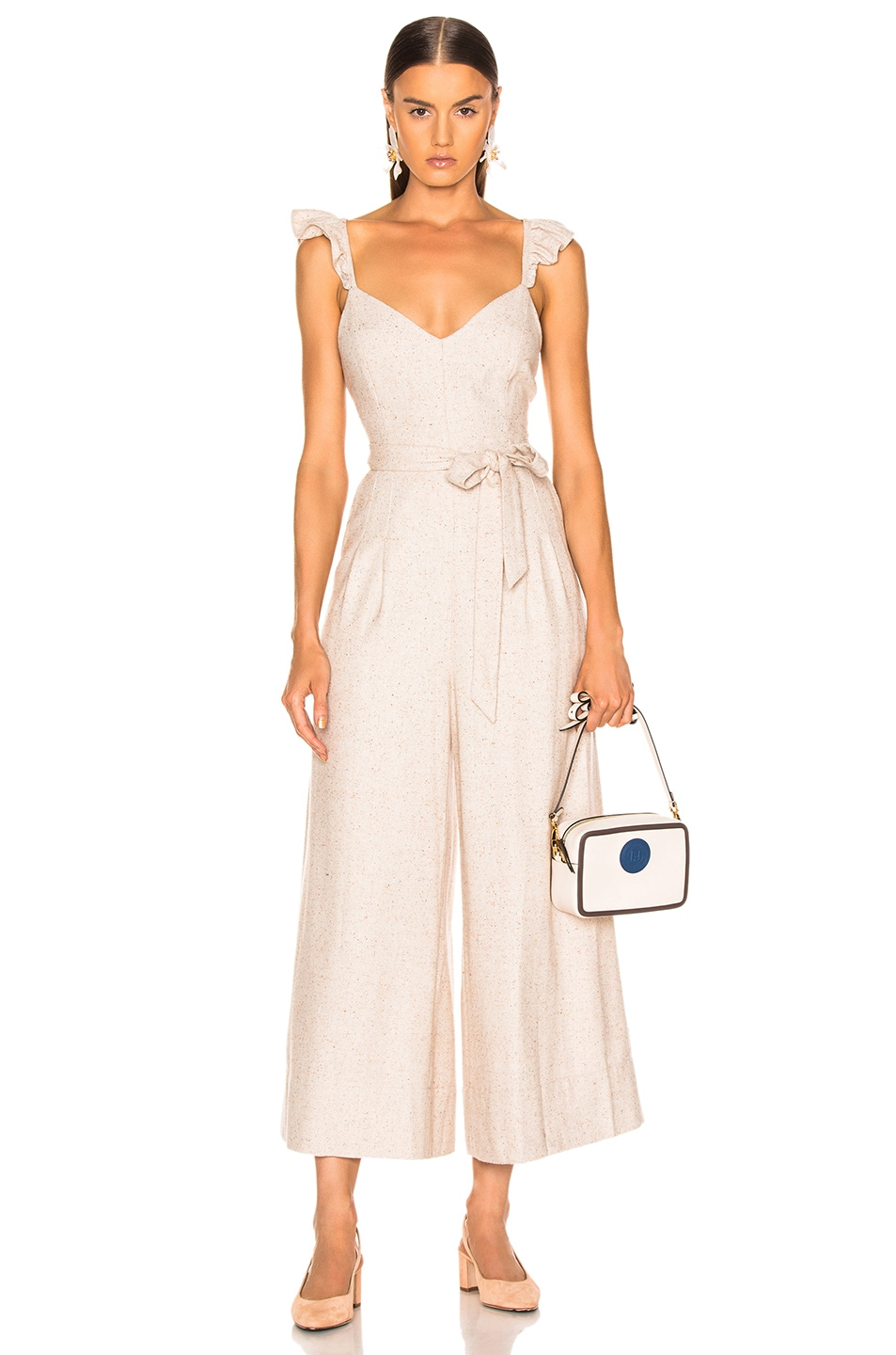 Image 1 of Ulla Johnson Lake Jumpsuit in Cream