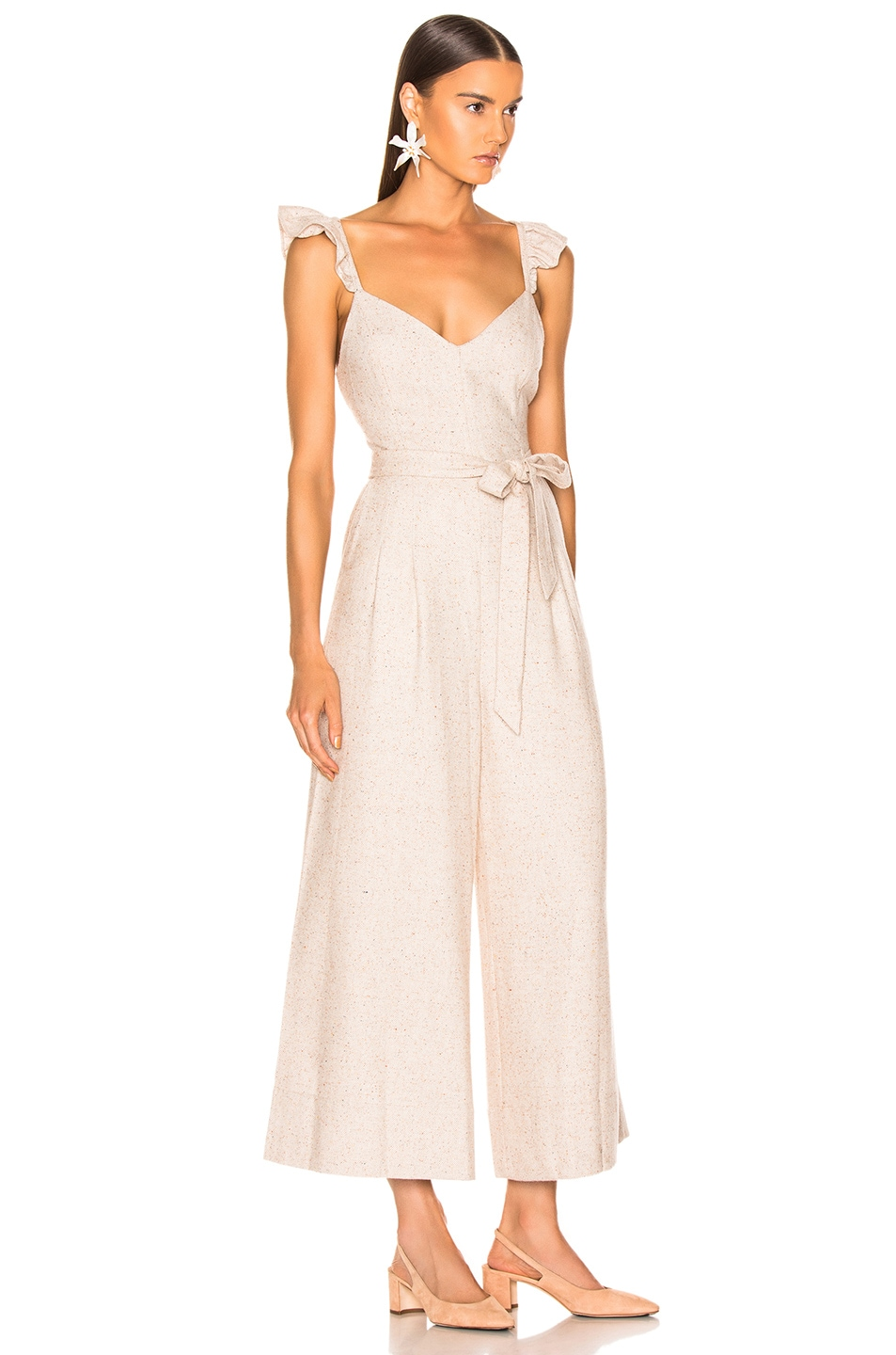 Image 2 of Ulla Johnson Lake Jumpsuit in Cream