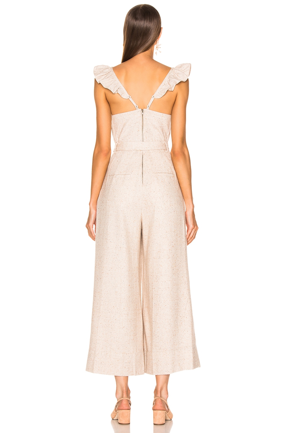 Image 3 of Ulla Johnson Lake Jumpsuit in Cream
