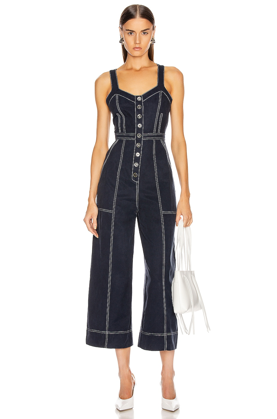 Image 1 of Ulla Johnson Romy Jumpsuit in Midnight