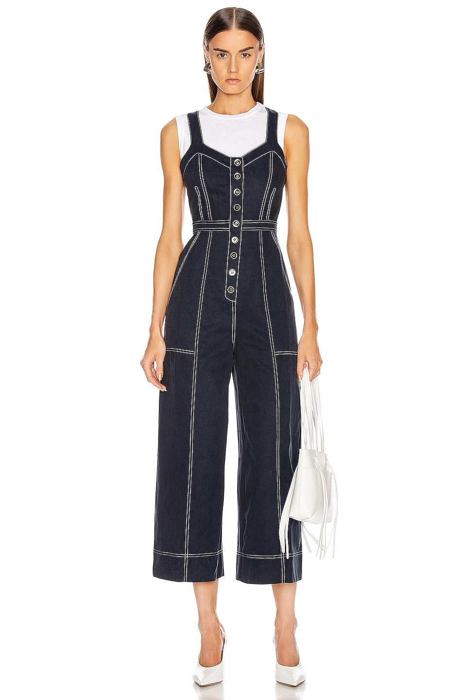 Image 2 of Ulla Johnson Romy Jumpsuit in Midnight