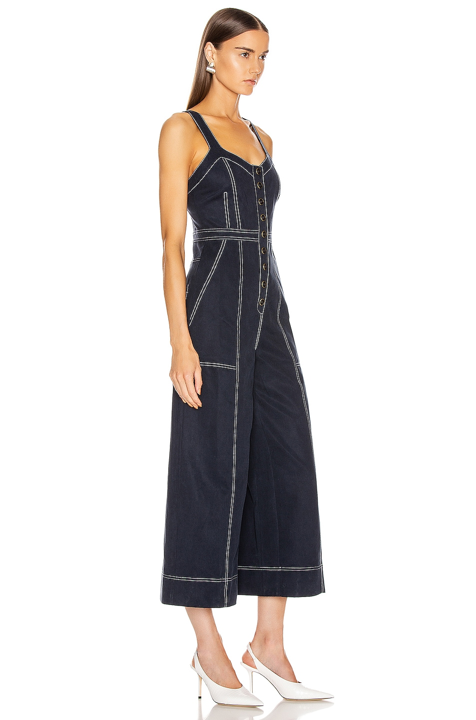 Image 3 of Ulla Johnson Romy Jumpsuit in Midnight