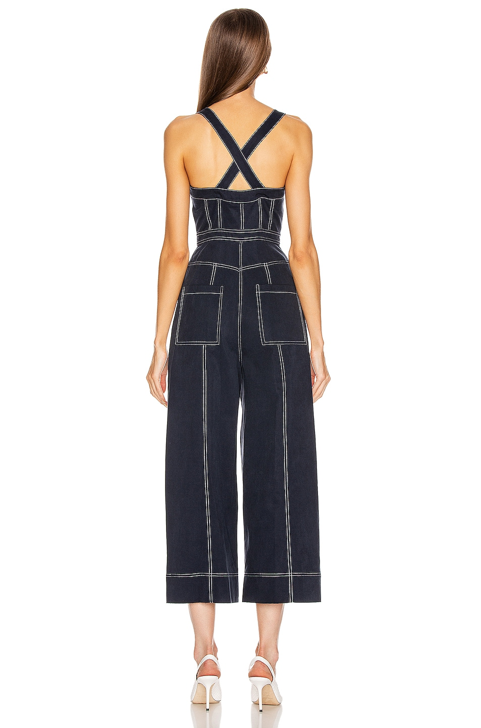 Image 4 of Ulla Johnson Romy Jumpsuit in Midnight