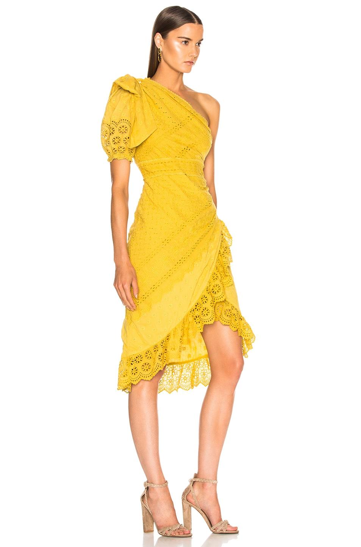 Image 2 of Ulla Johnson Gwyneth Dress in Chartreuse