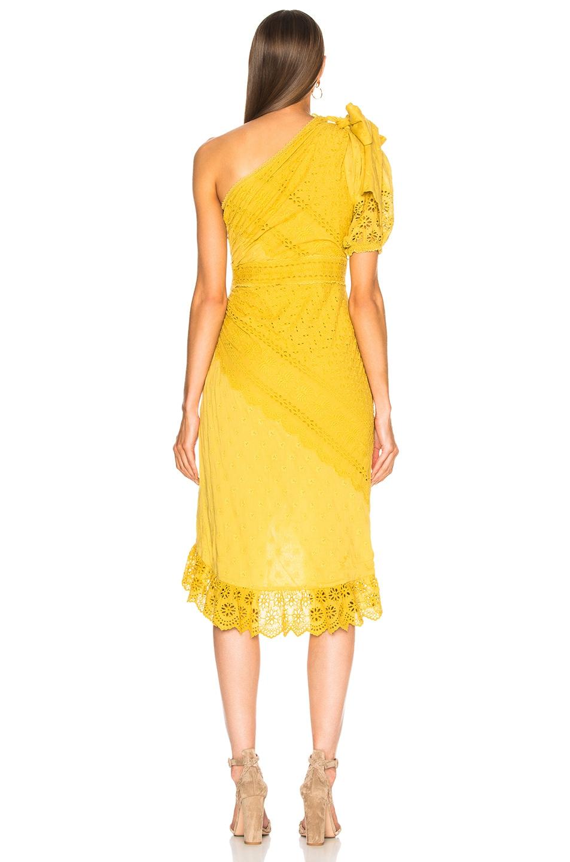 Image 4 of Ulla Johnson Gwyneth Dress in Chartreuse