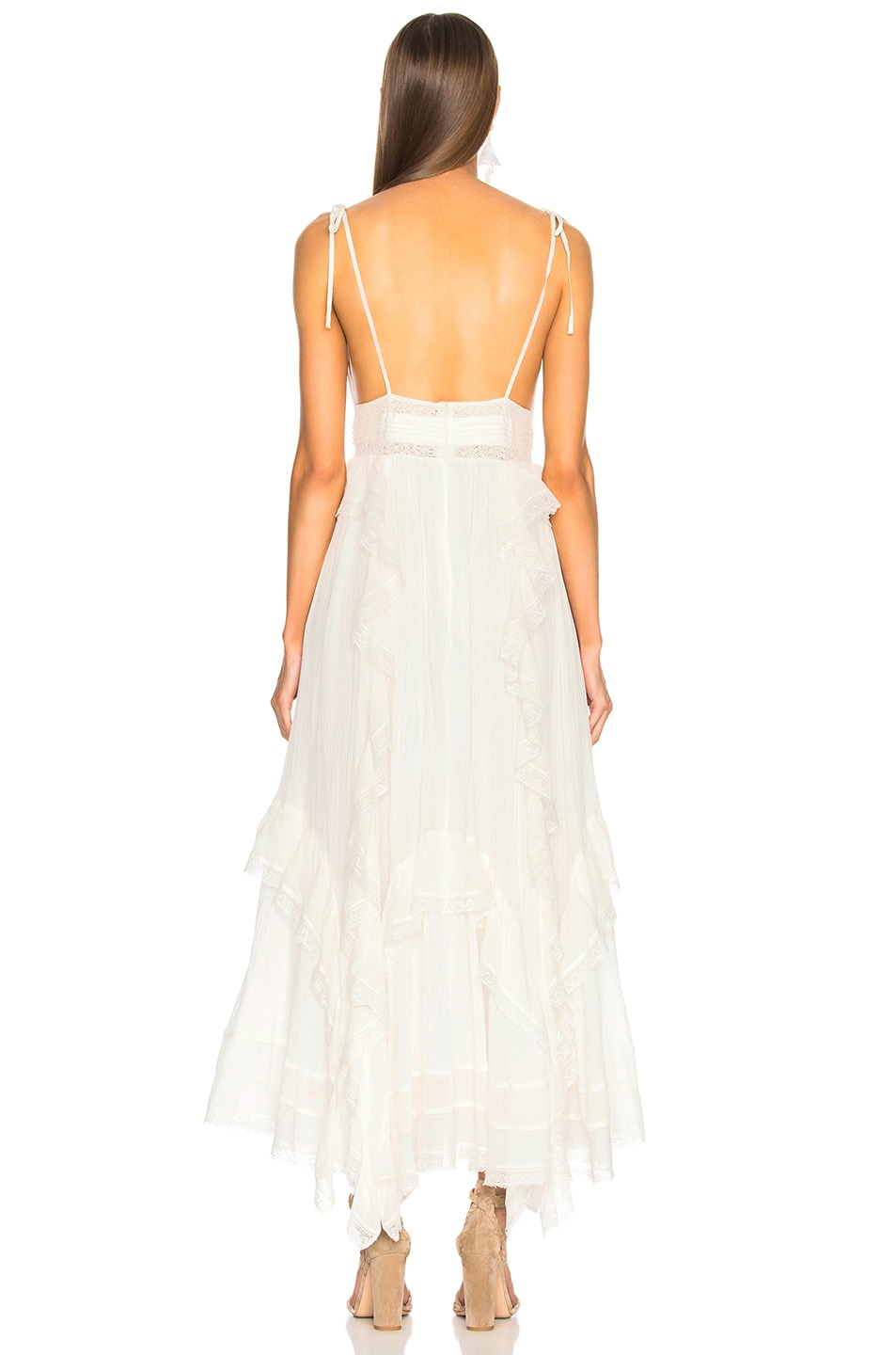 Image 3 of Ulla Johnson Bardot Dress in Blanc