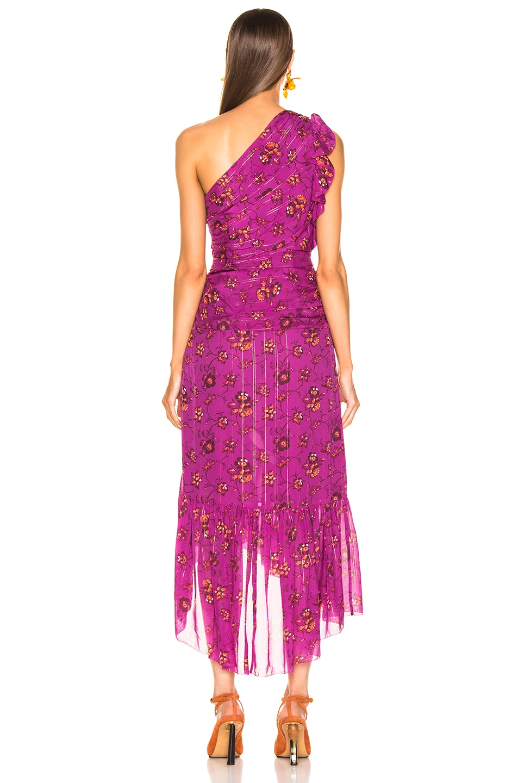 Image 4 of Ulla Johnson Belline Dress in Magenta