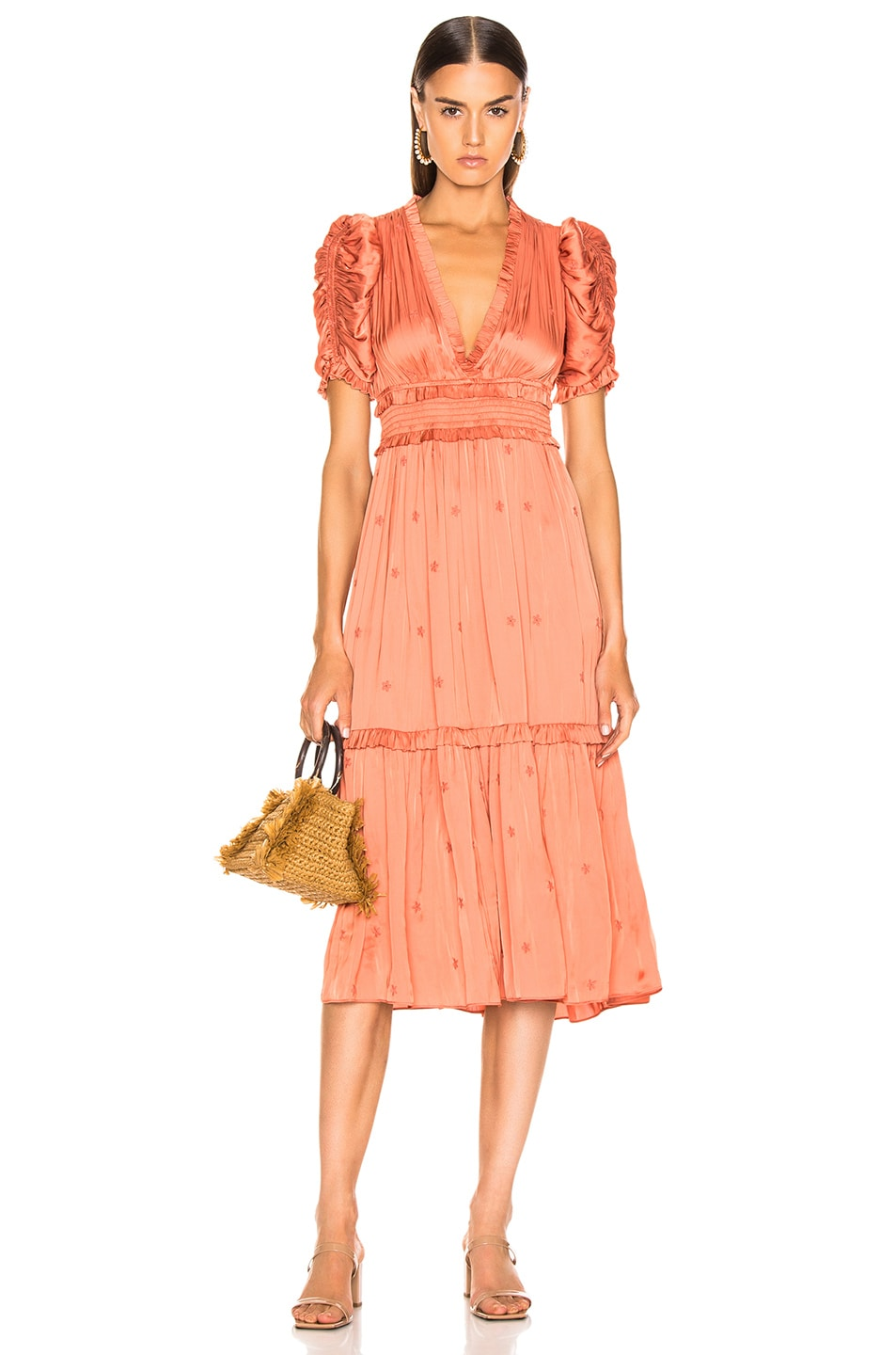 Image 1 of Ulla Johnson Maya Dress in Coral