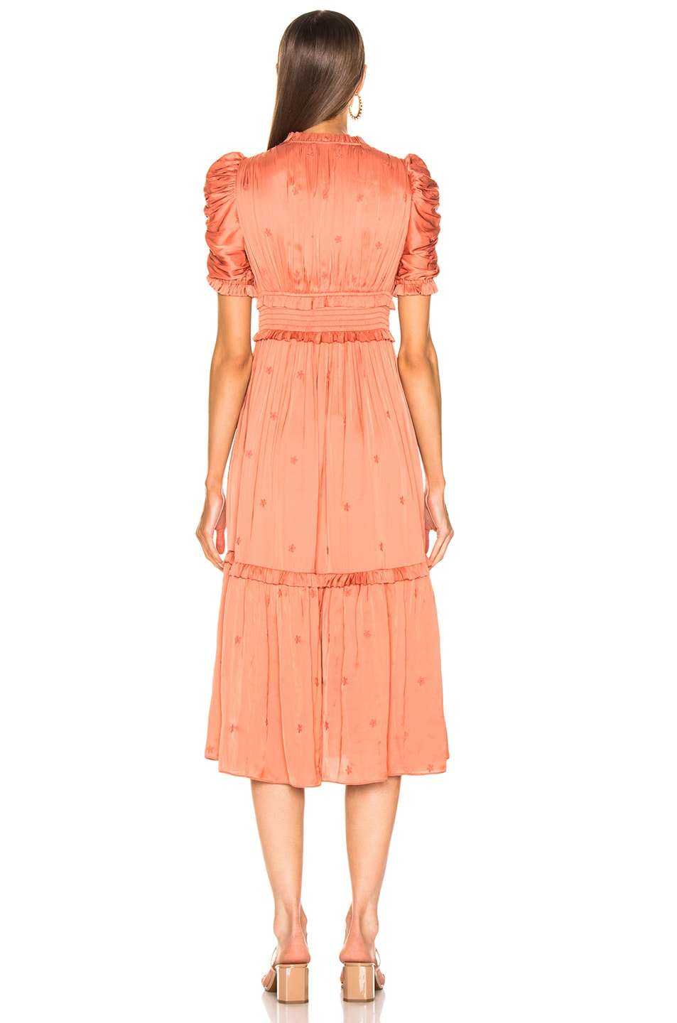 Image 3 of Ulla Johnson Maya Dress in Coral