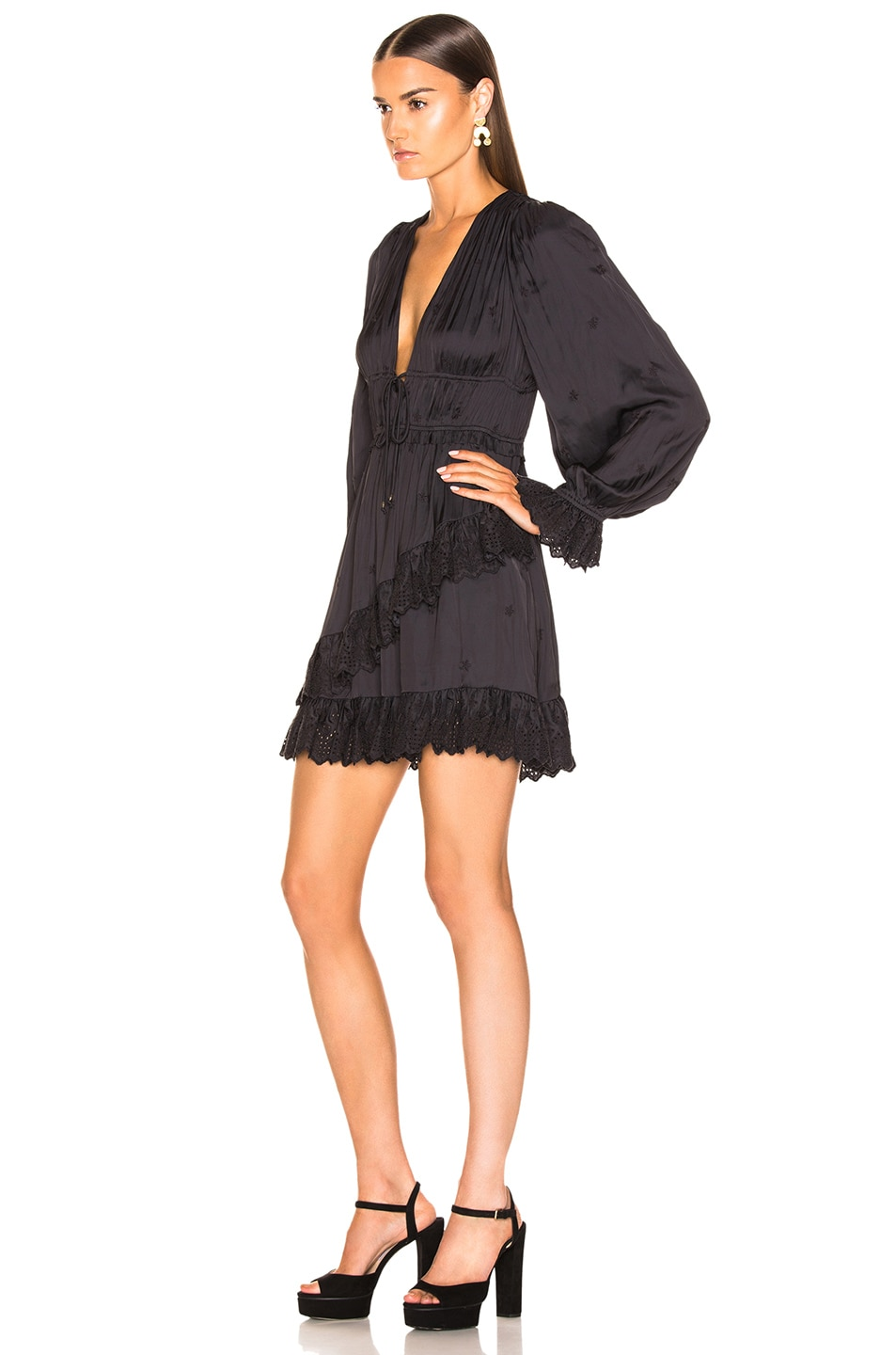 Image 3 of Ulla Johnson Millie Dress in Noir
