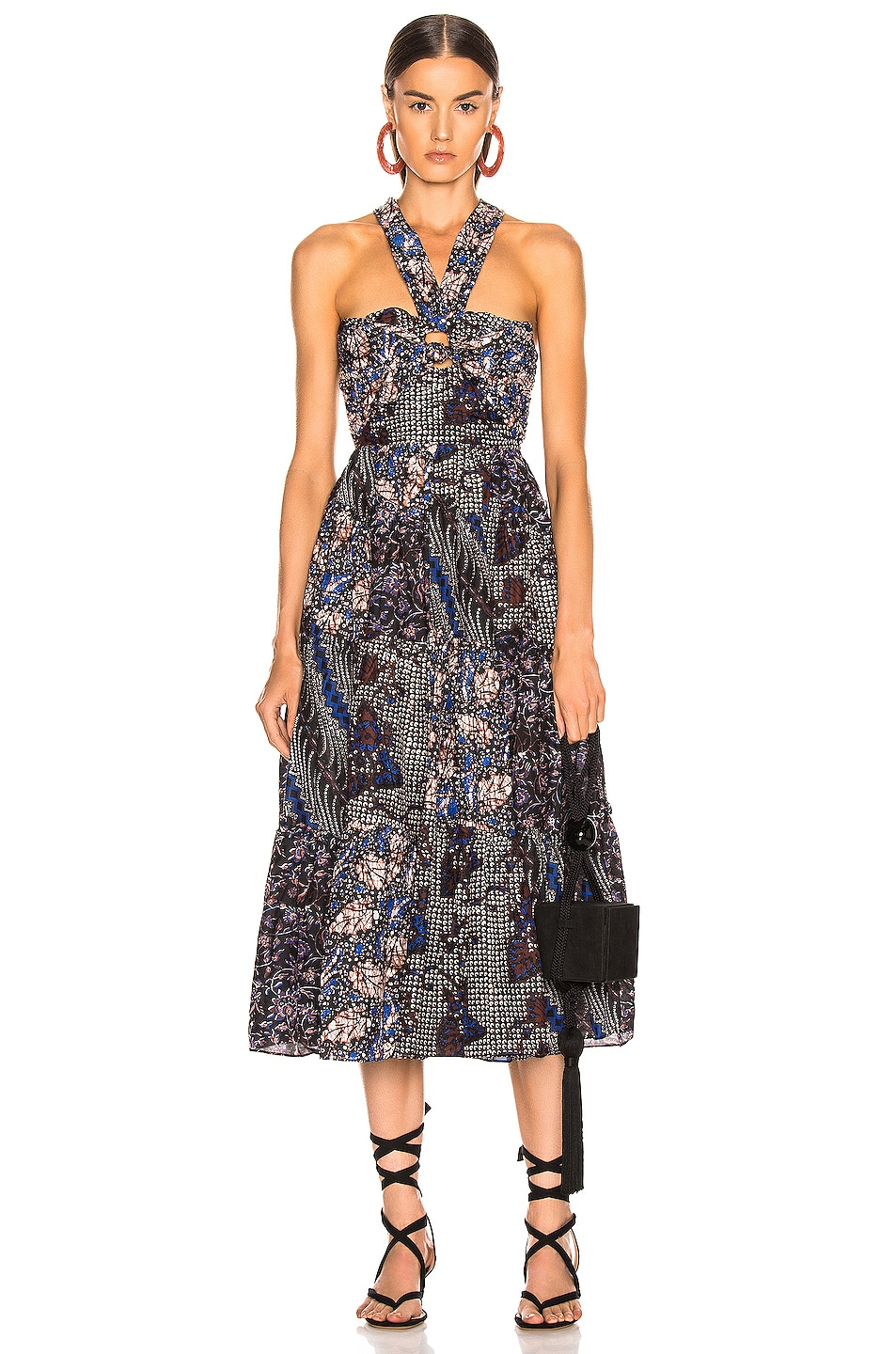 Image 2 of Ulla Johnson Naaila Dress in Indigo
