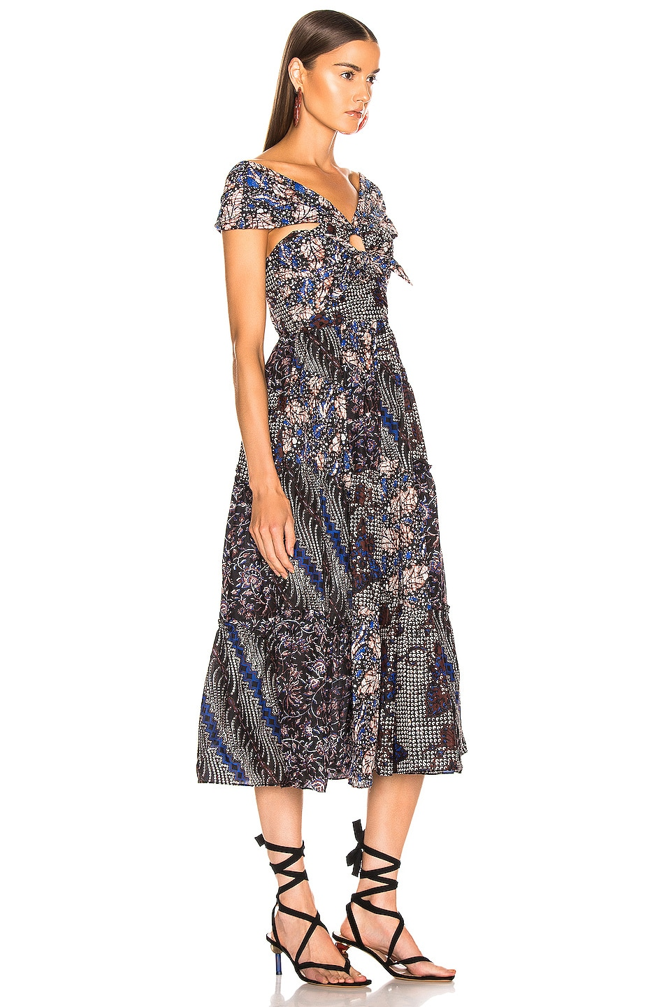 Image 3 of Ulla Johnson Naaila Dress in Indigo