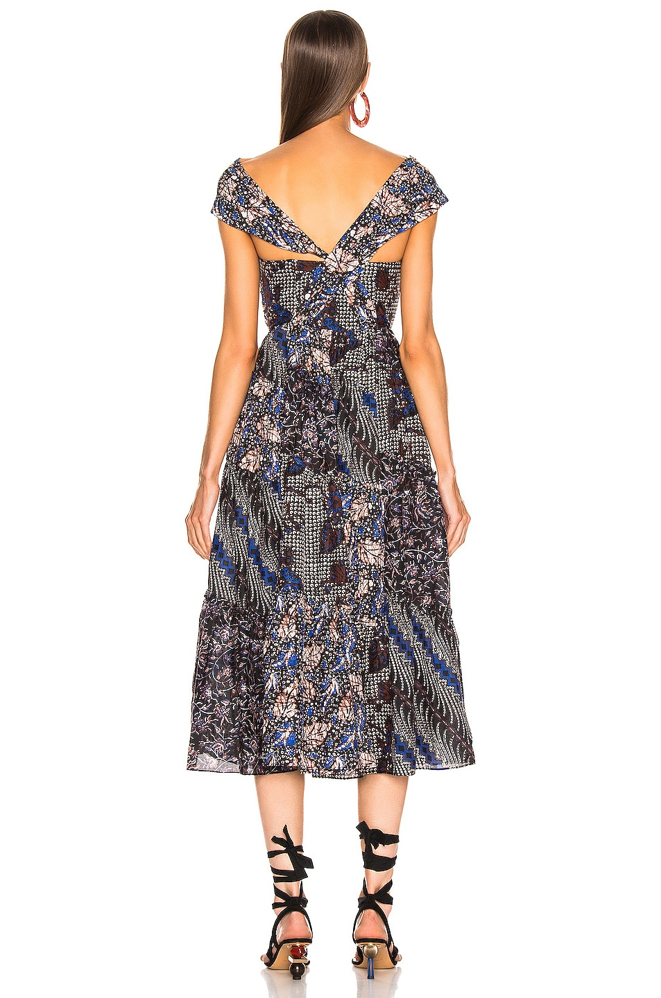 Image 4 of Ulla Johnson Naaila Dress in Indigo