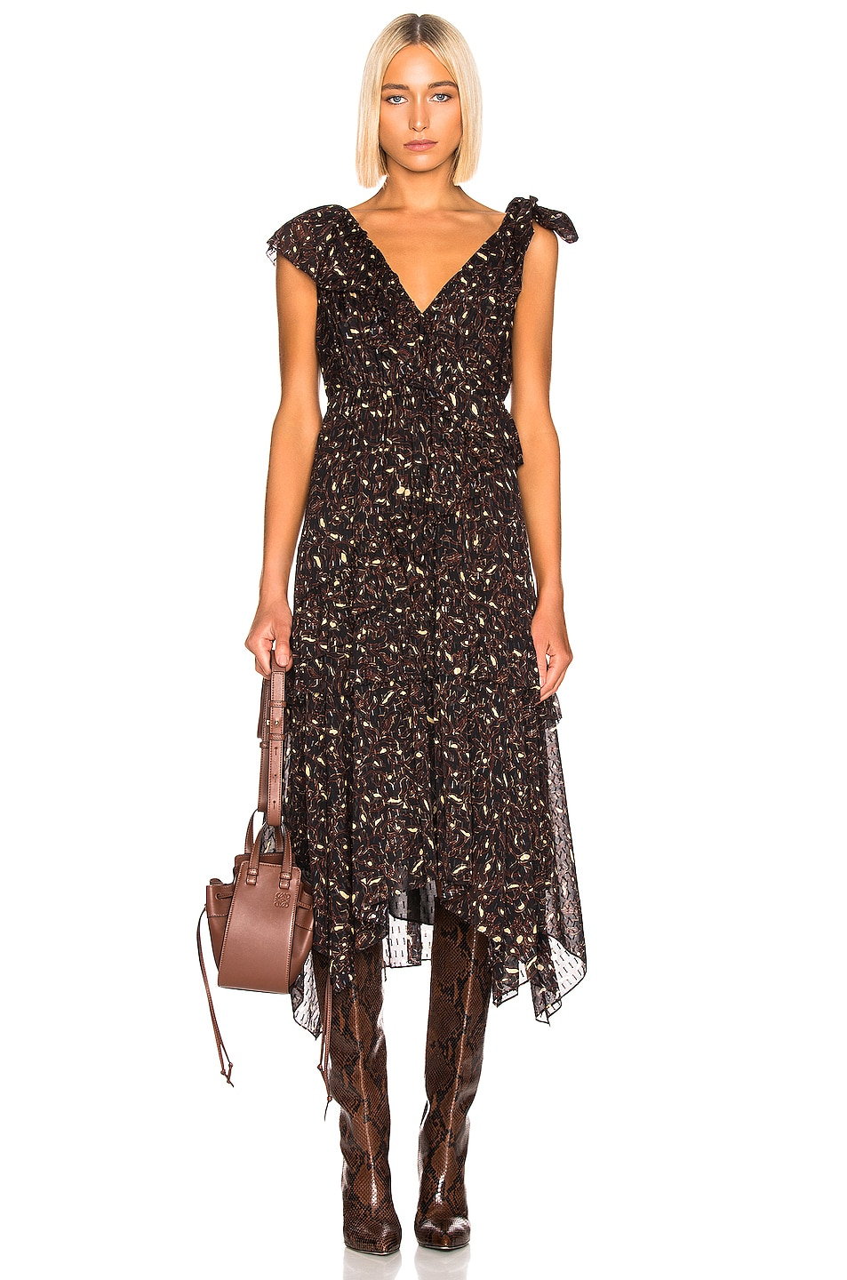 Image 1 of Ulla Johnson Dania Dress in Jet