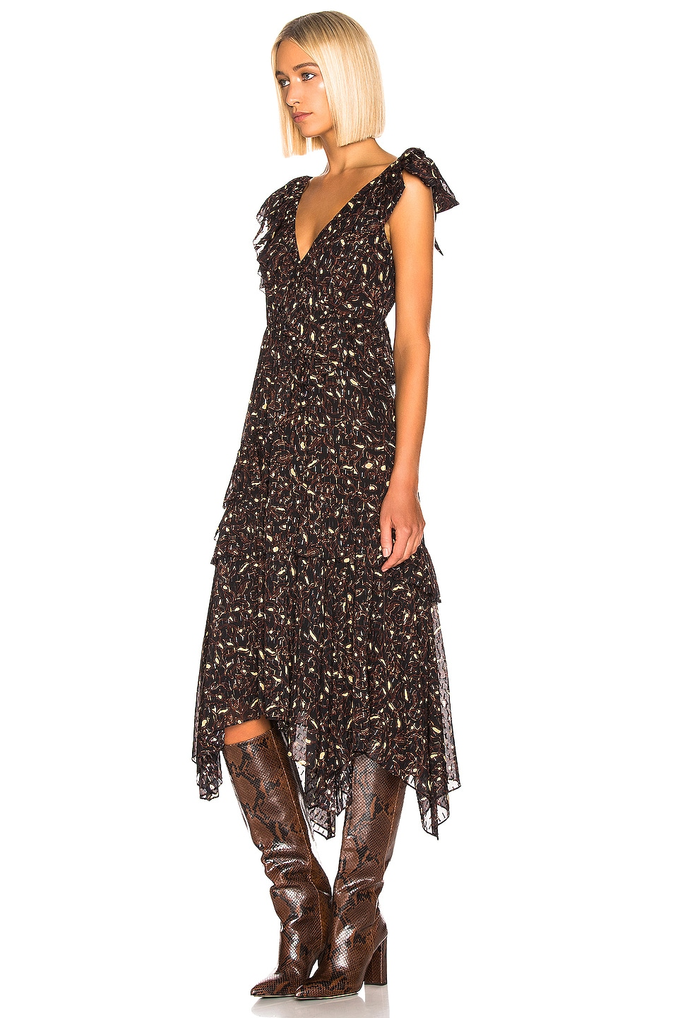 Image 2 of Ulla Johnson Dania Dress in Jet