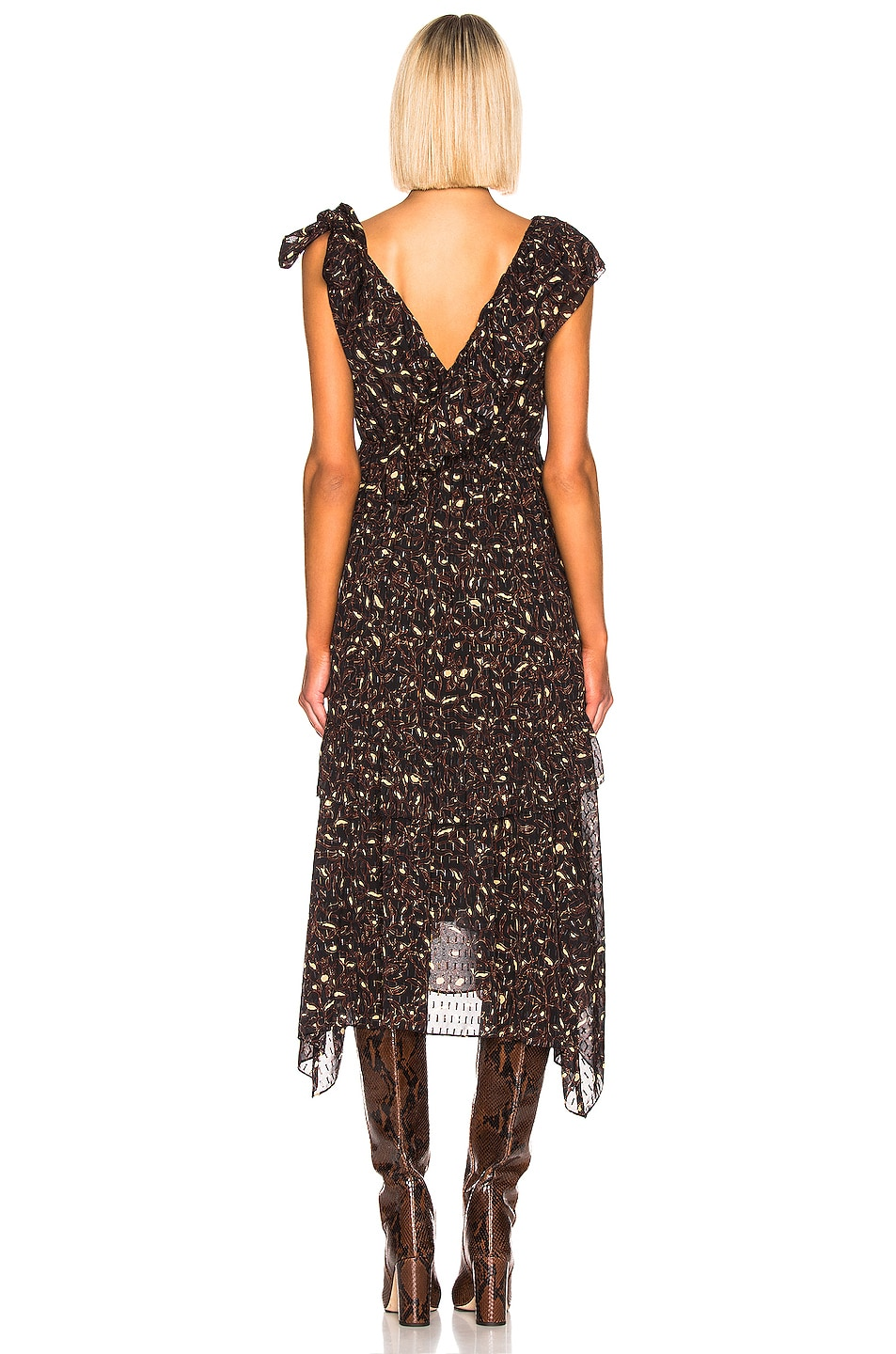 Image 3 of Ulla Johnson Dania Dress in Jet