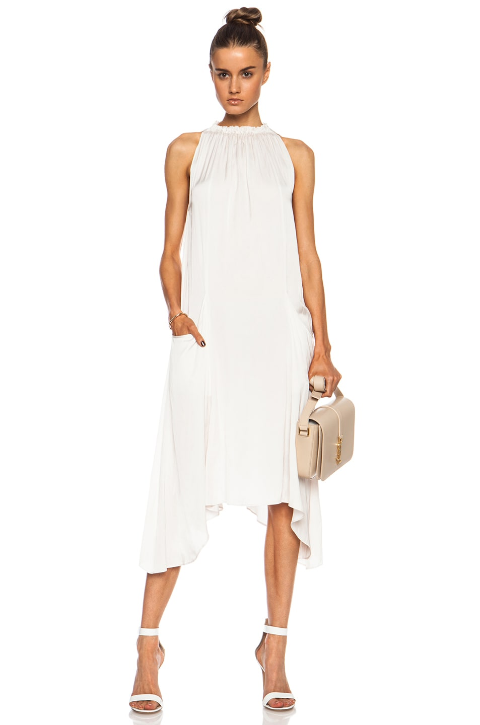 Image 1 of Ulla Johnson Yvonne Poly Dress in Oyster