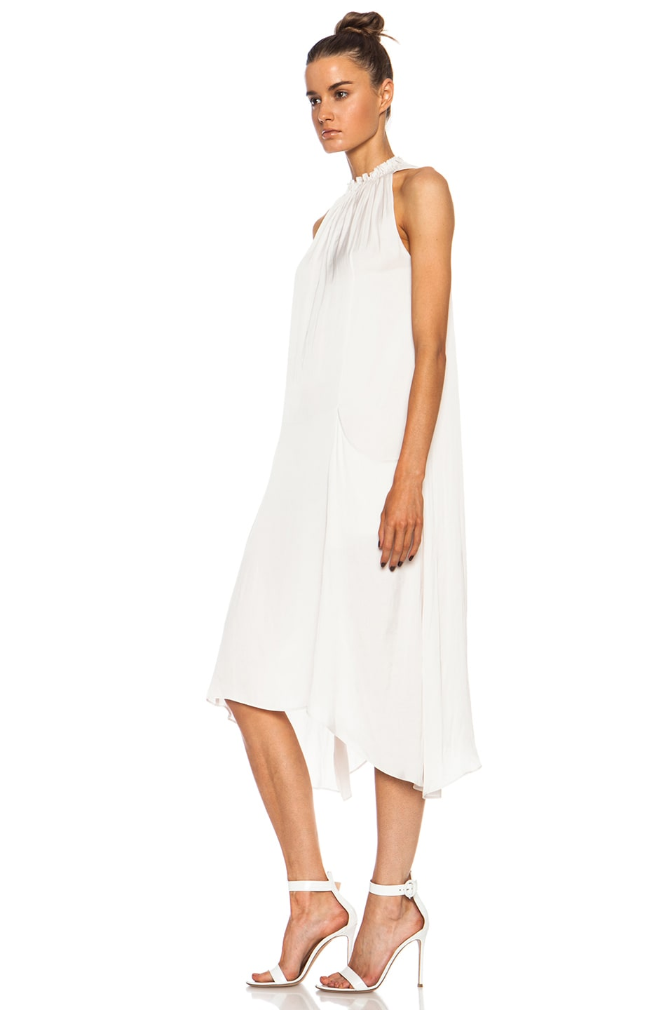 Image 2 of Ulla Johnson Yvonne Poly Dress in Oyster
