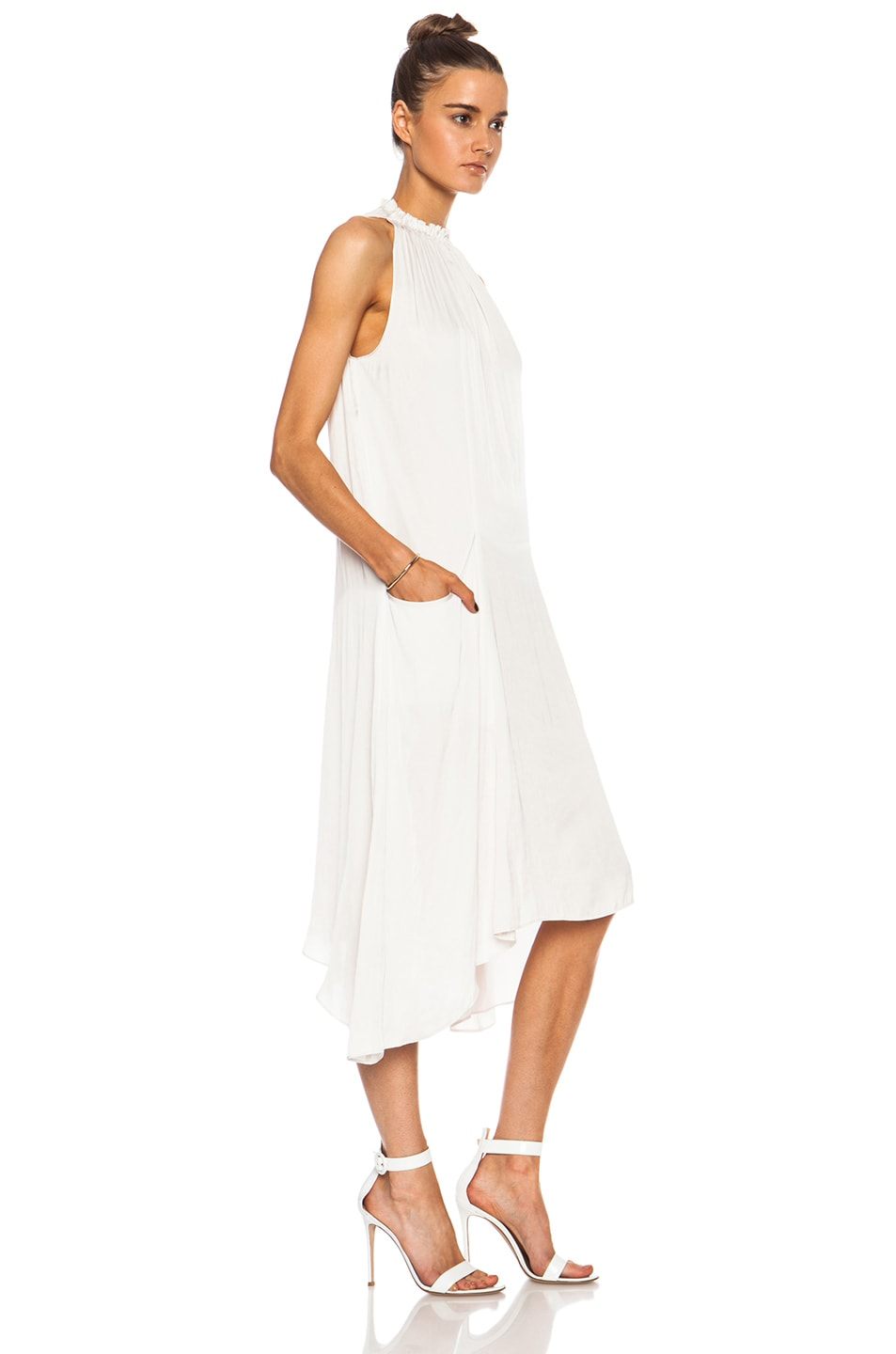 Image 3 of Ulla Johnson Yvonne Poly Dress in Oyster