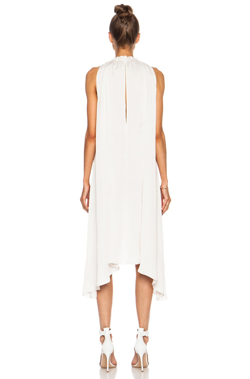 Image 4 of Ulla Johnson Yvonne Poly Dress in Oyster