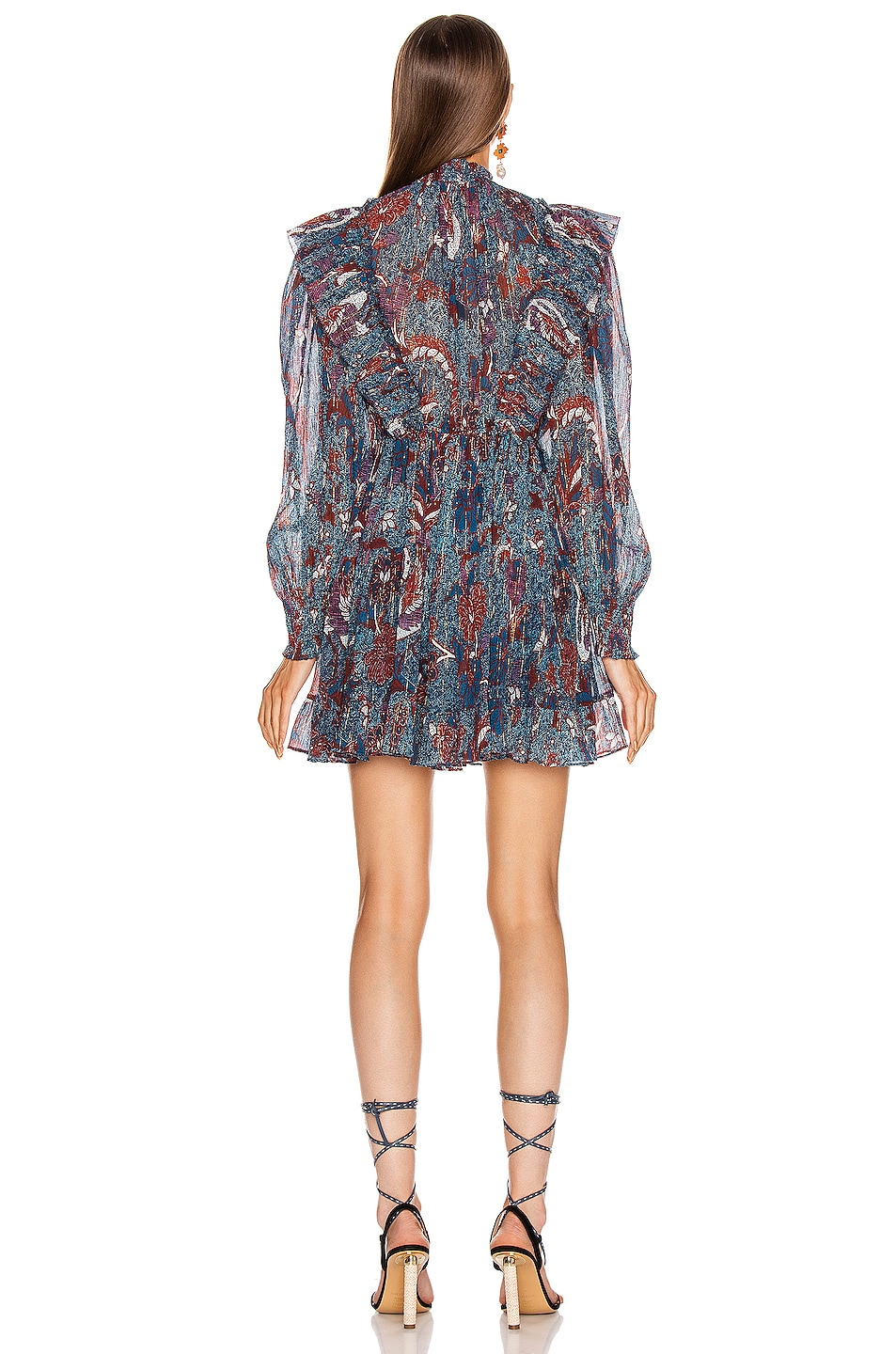 Image 3 of Ulla Johnson Vienne Dress in Azul