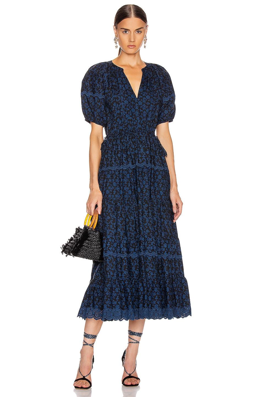 Image 1 of Ulla Johnson Claribel Dress in Midnight Floral