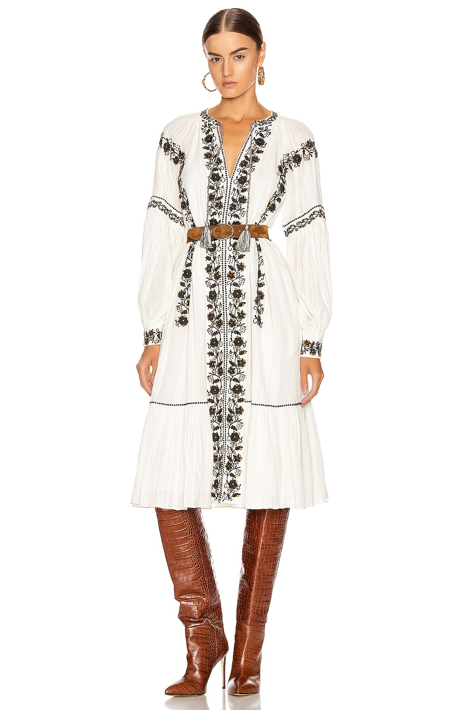 Image 1 of Ulla Johnson Vanita Dress in Blanc