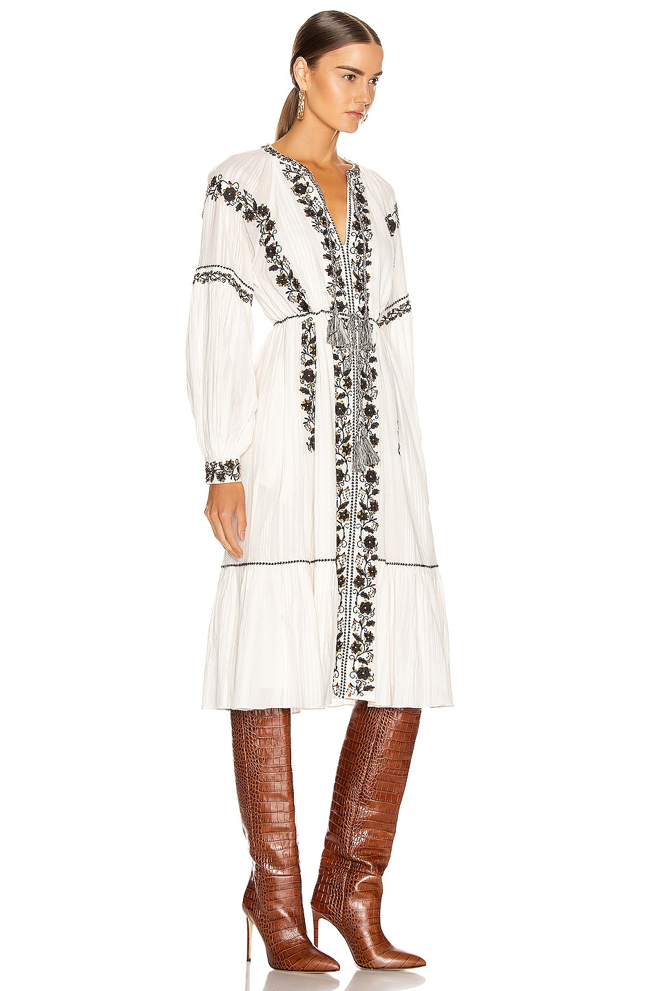 Image 3 of Ulla Johnson Vanita Dress in Blanc