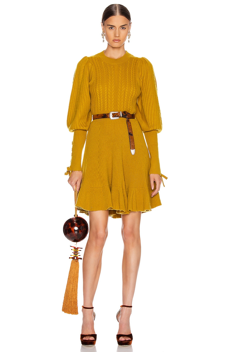 Image 1 of Ulla Johnson Renee Dress in Chartreuse