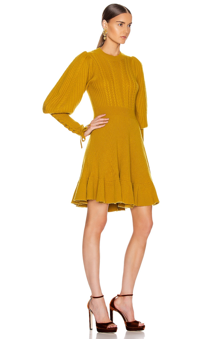 Image 2 of Ulla Johnson Renee Dress in Chartreuse