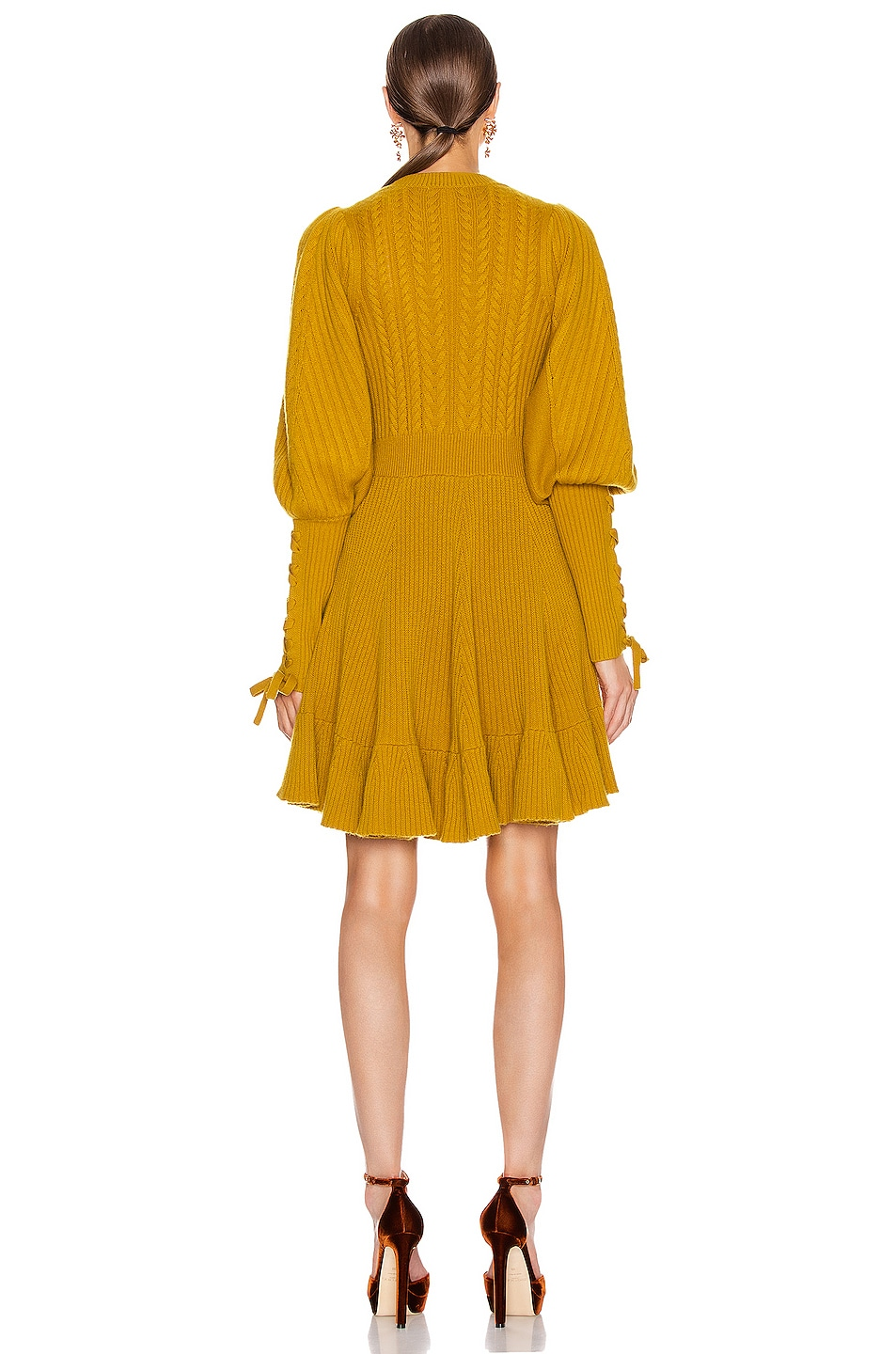 Image 3 of Ulla Johnson Renee Dress in Chartreuse