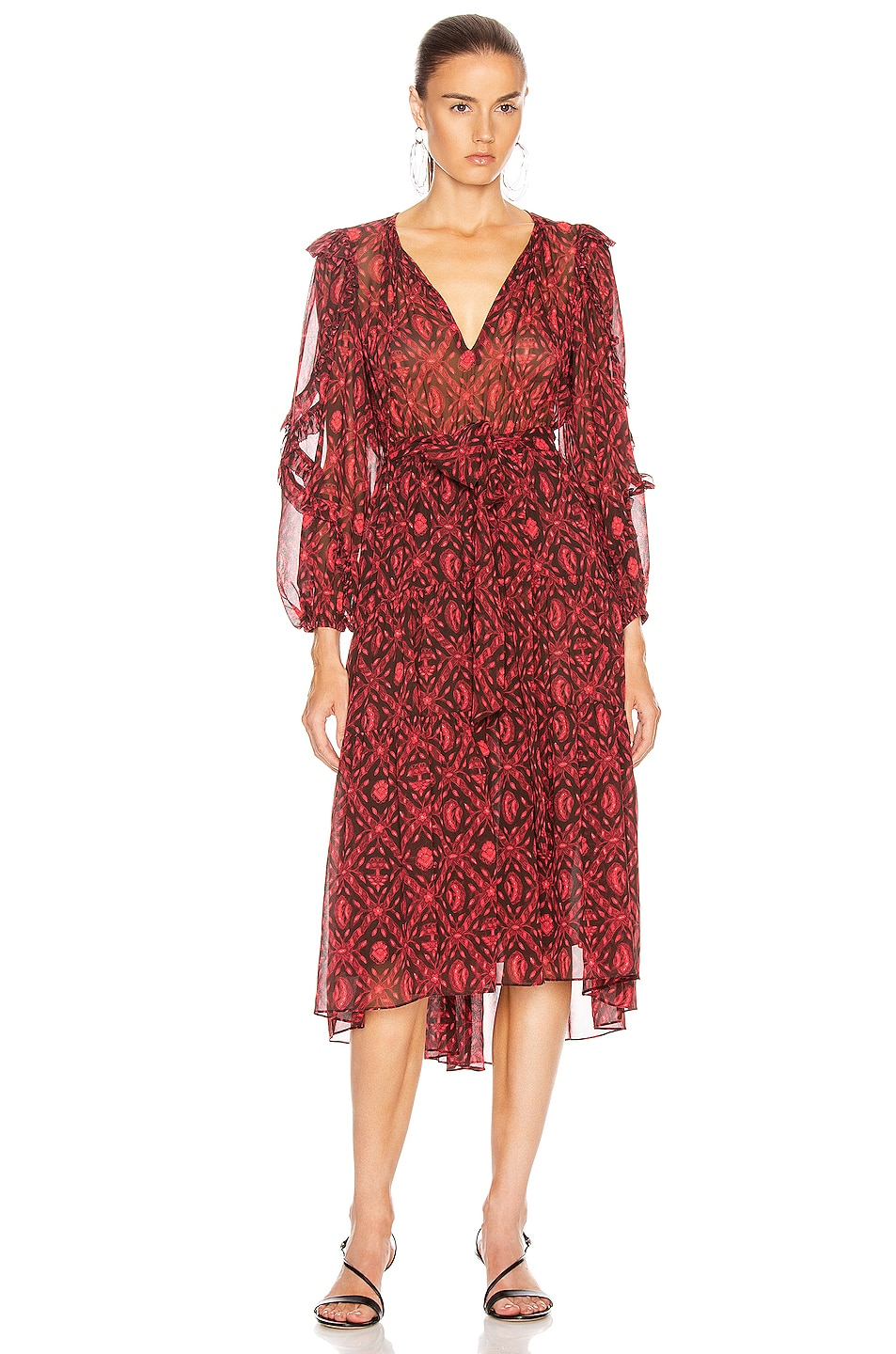 Image 1 of Ulla Johnson Aliya Dress in Fuchsia