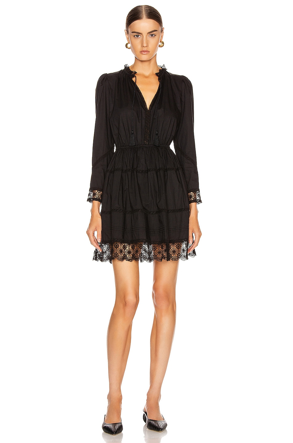 Image 1 of Ulla Johnson Helene Dress in Noir