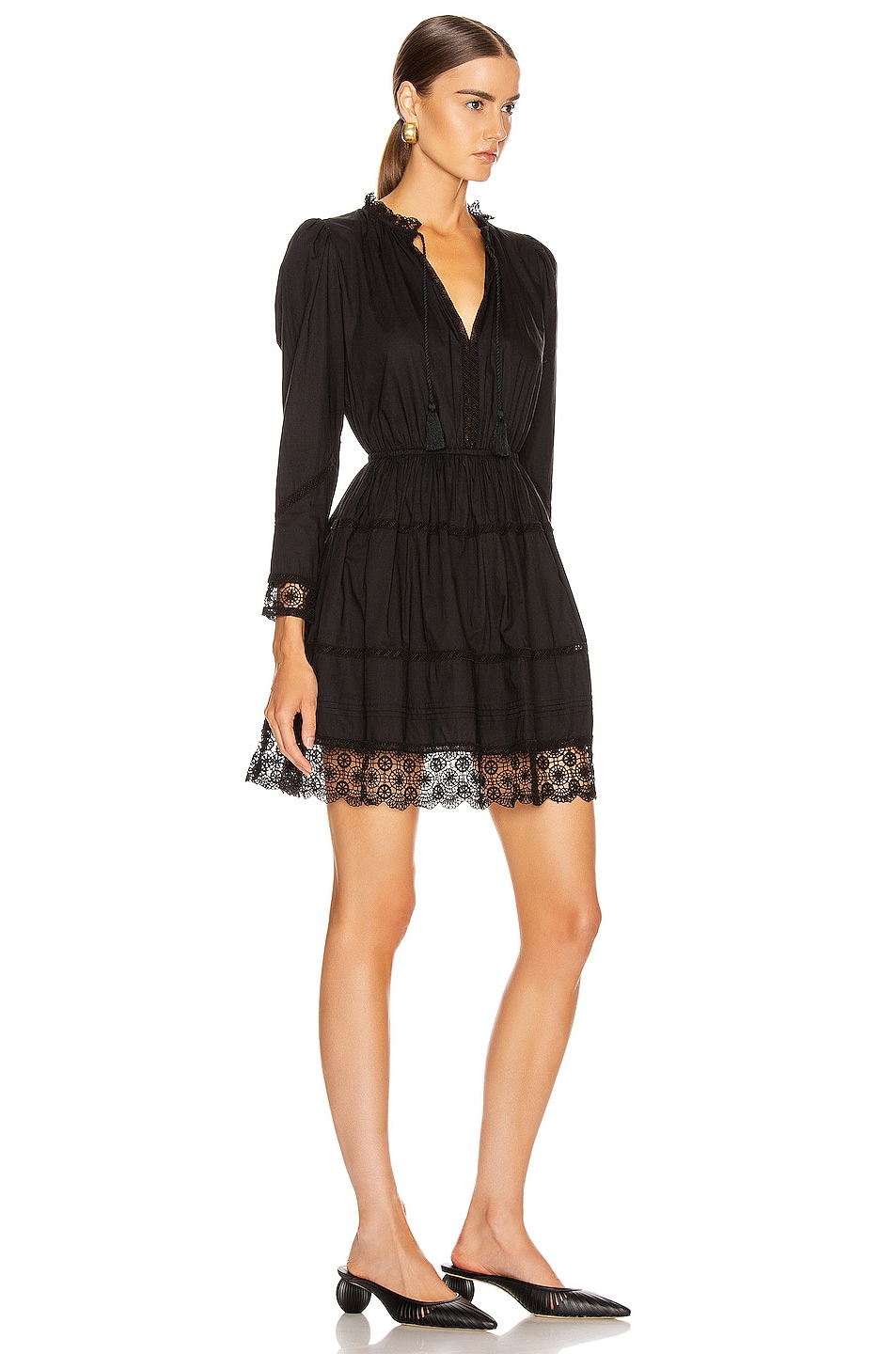 Image 2 of Ulla Johnson Helene Dress in Noir