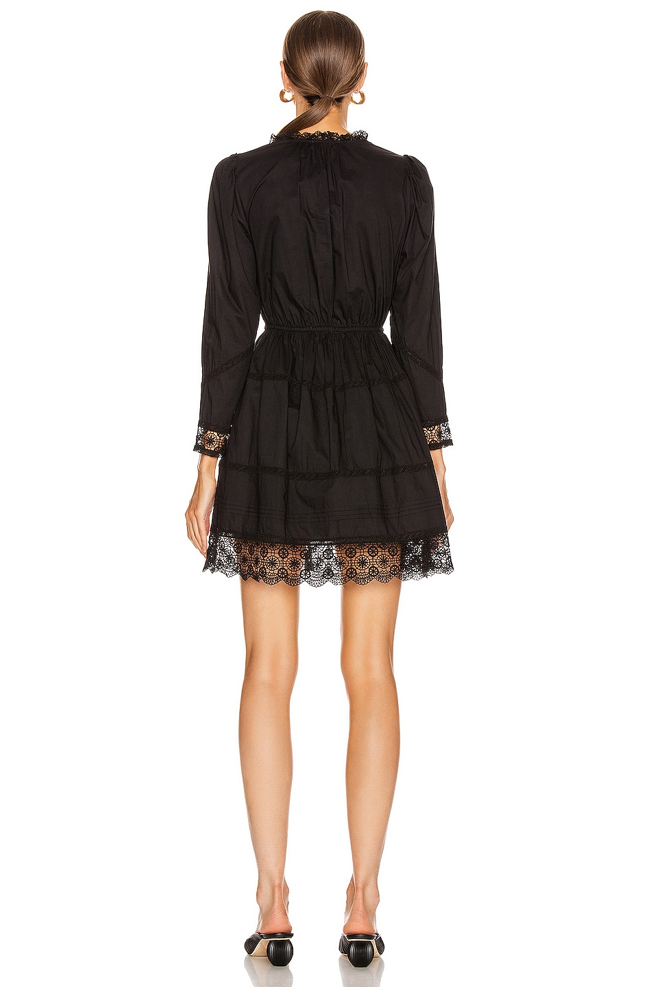 Image 3 of Ulla Johnson Helene Dress in Noir