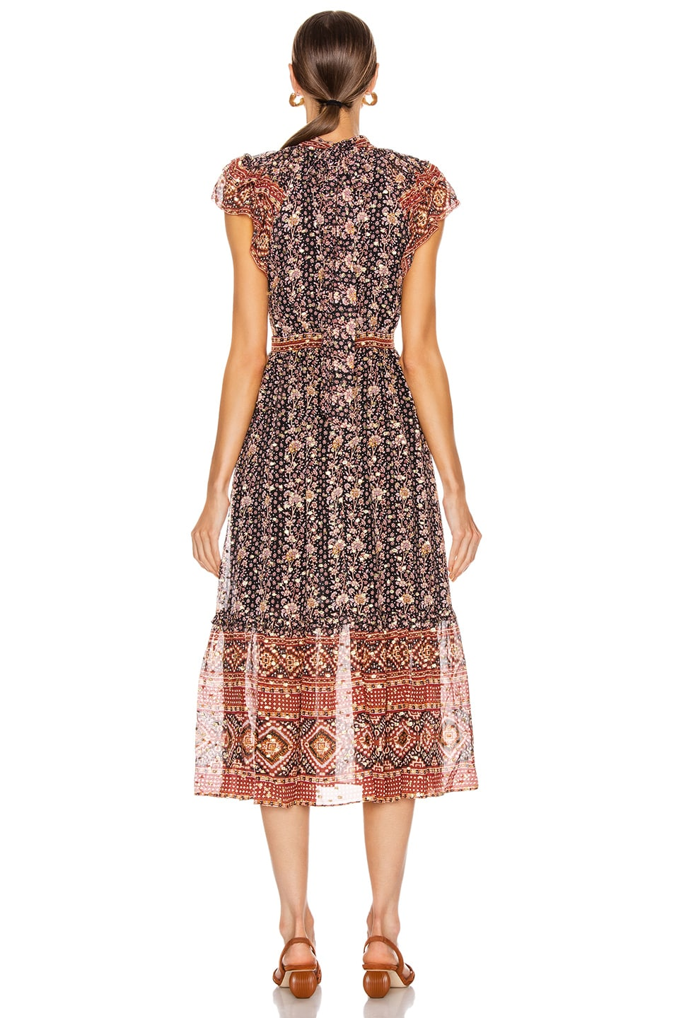 Image 3 of Ulla Johnson Alastair Dress in Midnight